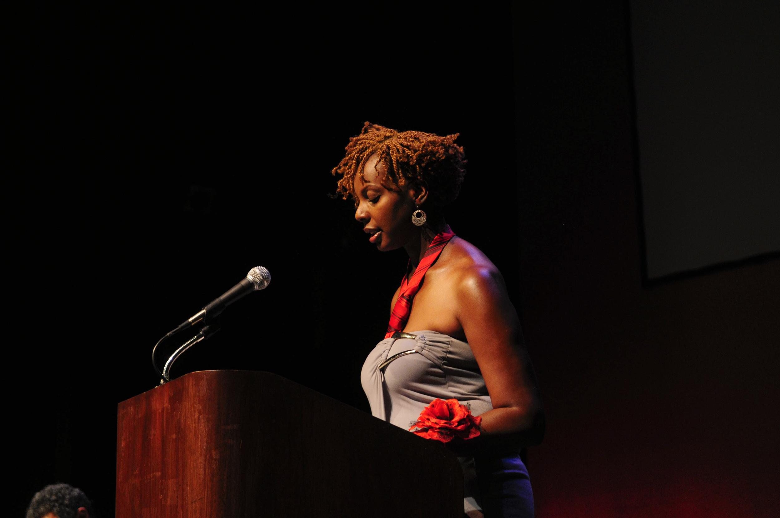 Moderator Esther Armah