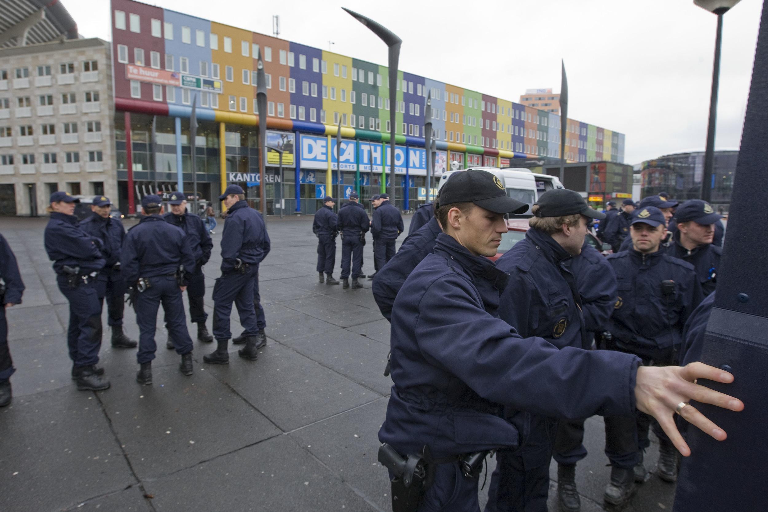 Police blockade in Amsterdam's Bijlmer Community