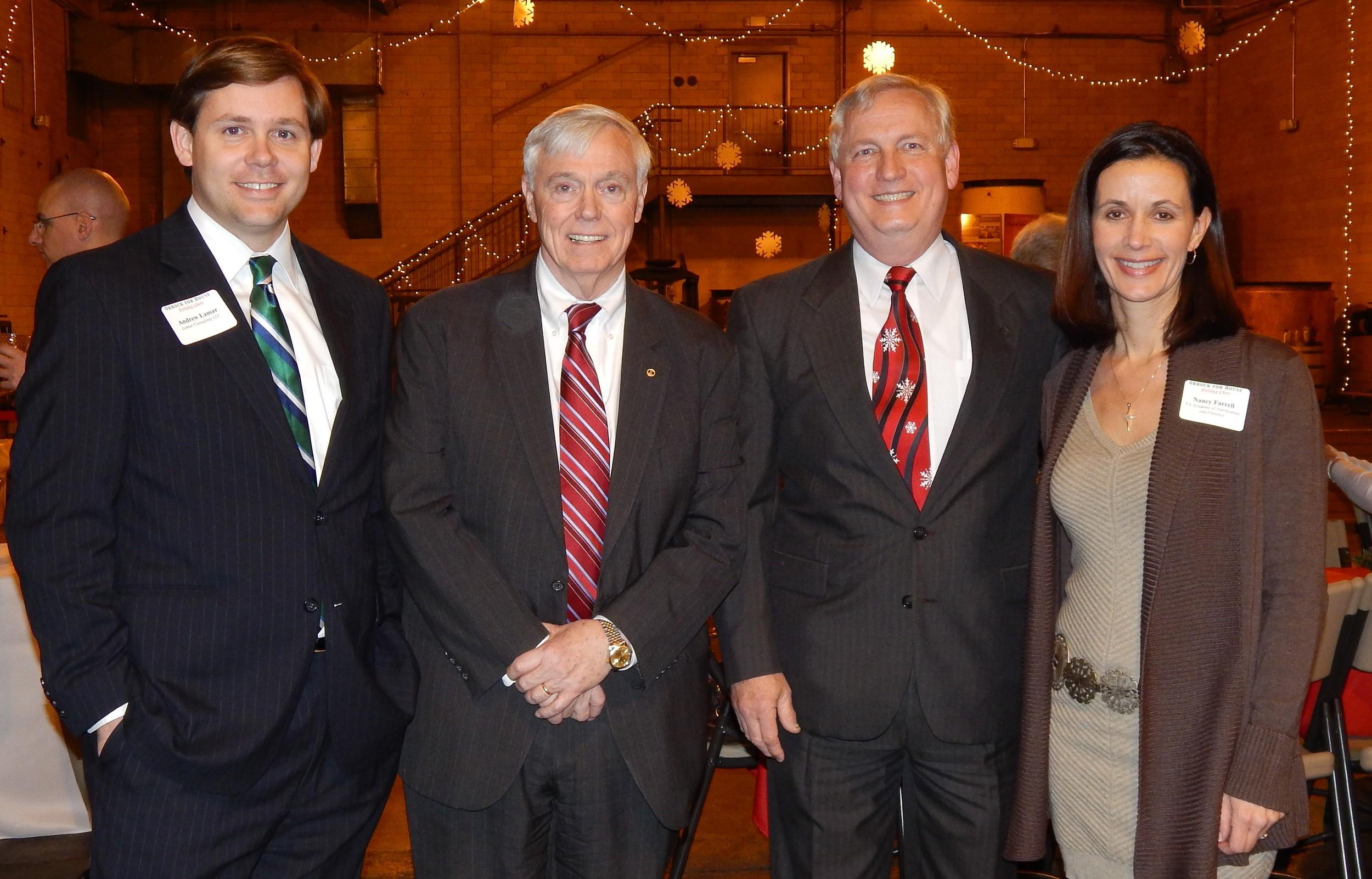 Fundraiser with VAND Legislative Consultant Andrew Lamar, VirginiaSpeaker Bill Howell (R) andVirginia Delegate Bobby Orrock (R).