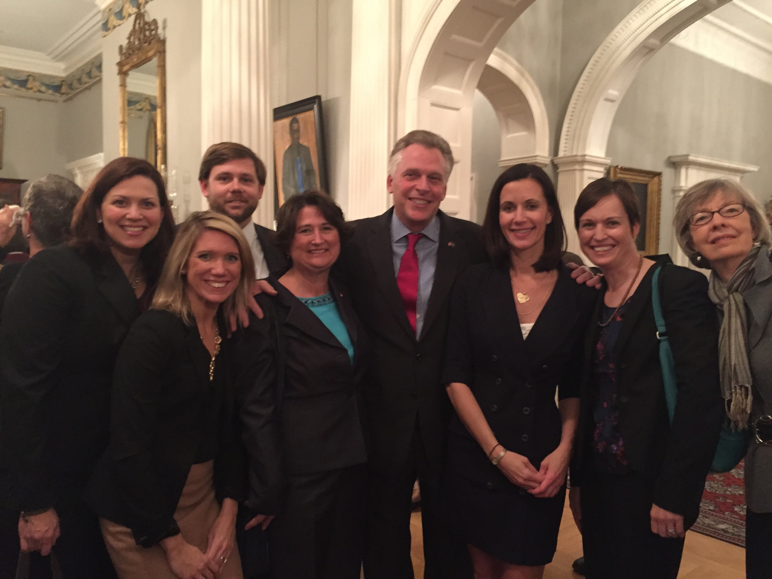 Reception with Virginia Governor Terry McAuliffe (D) and VAND members.