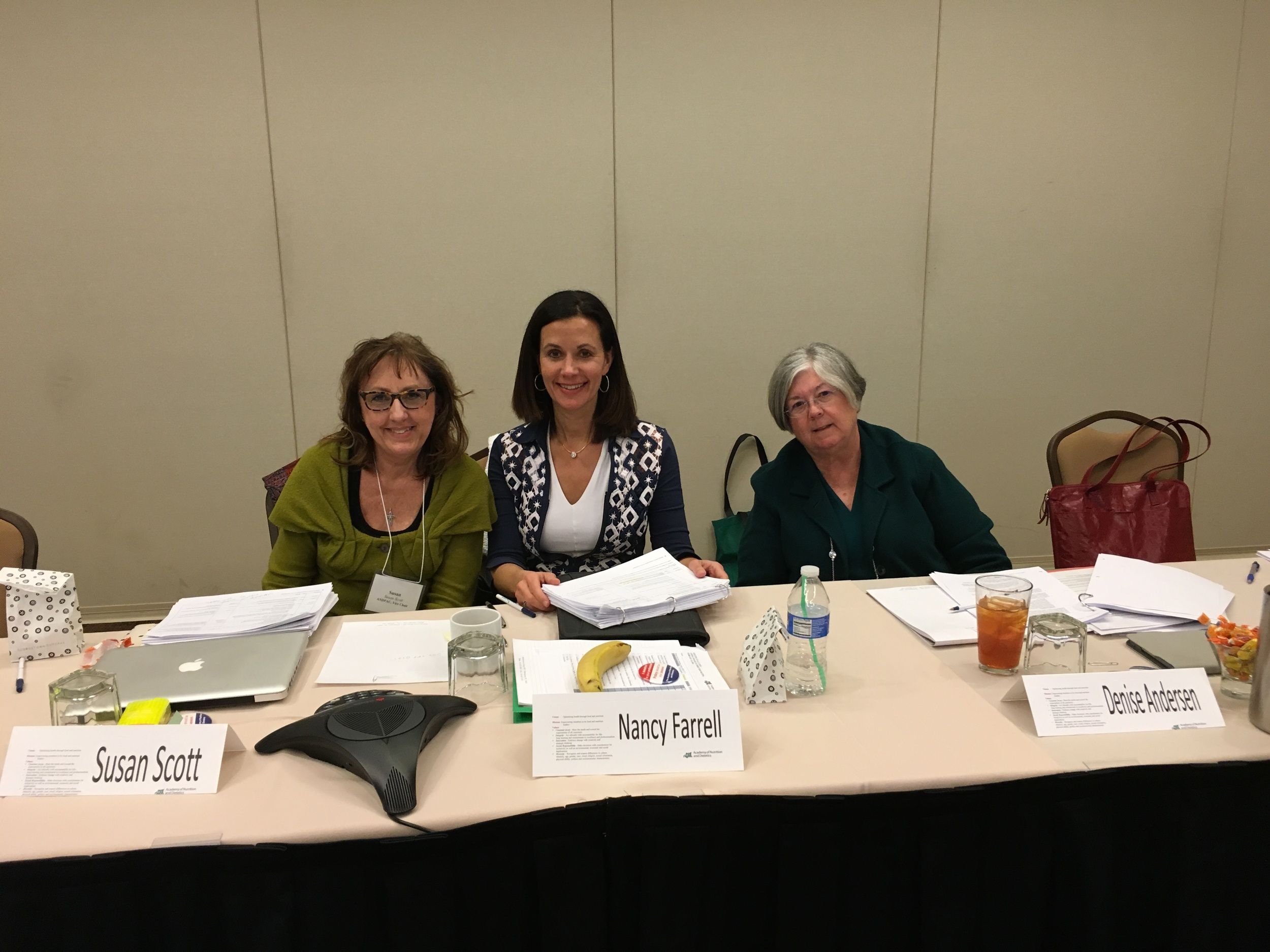 As ANDPAC Chair consulting with my Vice Chair and Past Chair