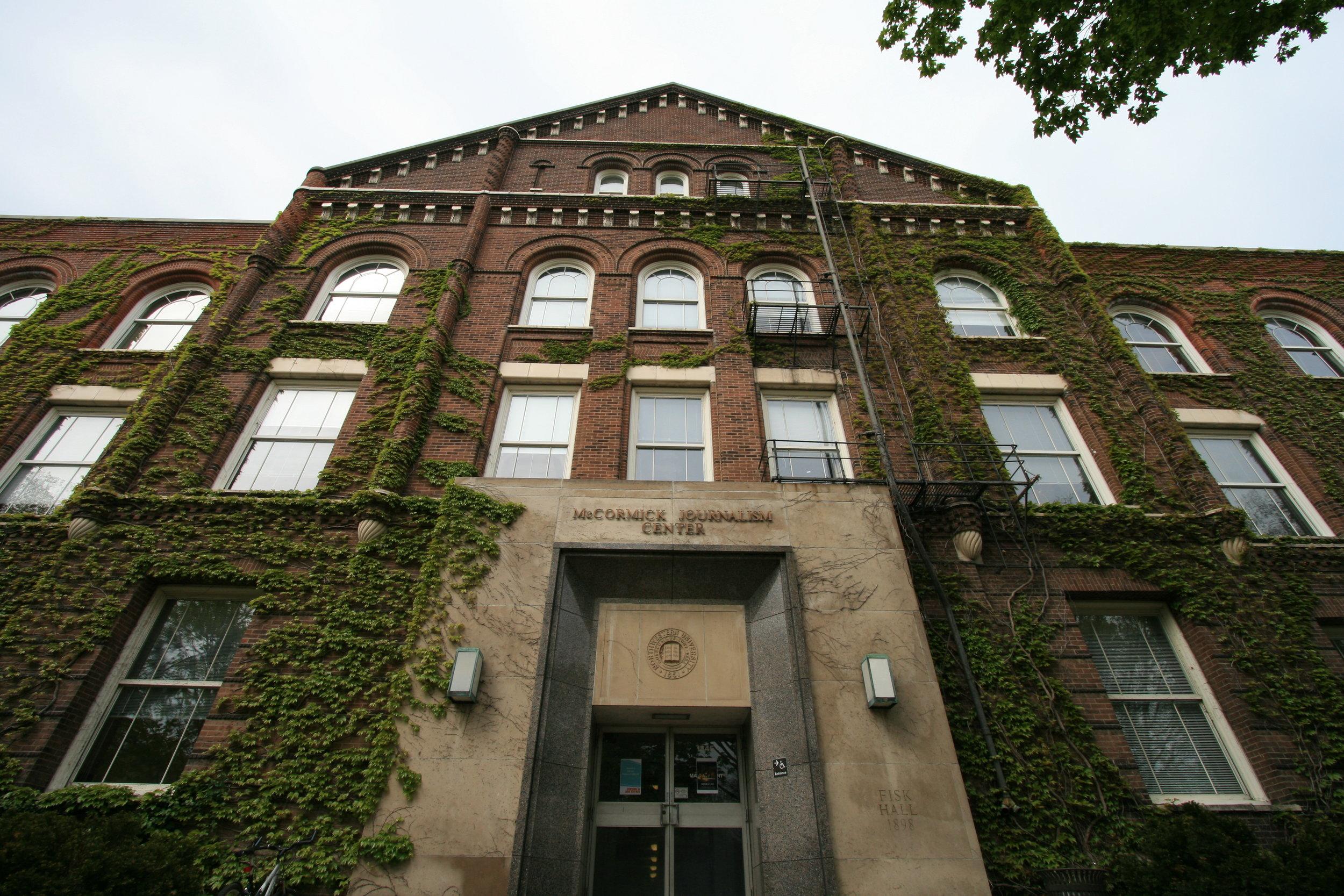 Medill, Fisk Hall at Northwestern.