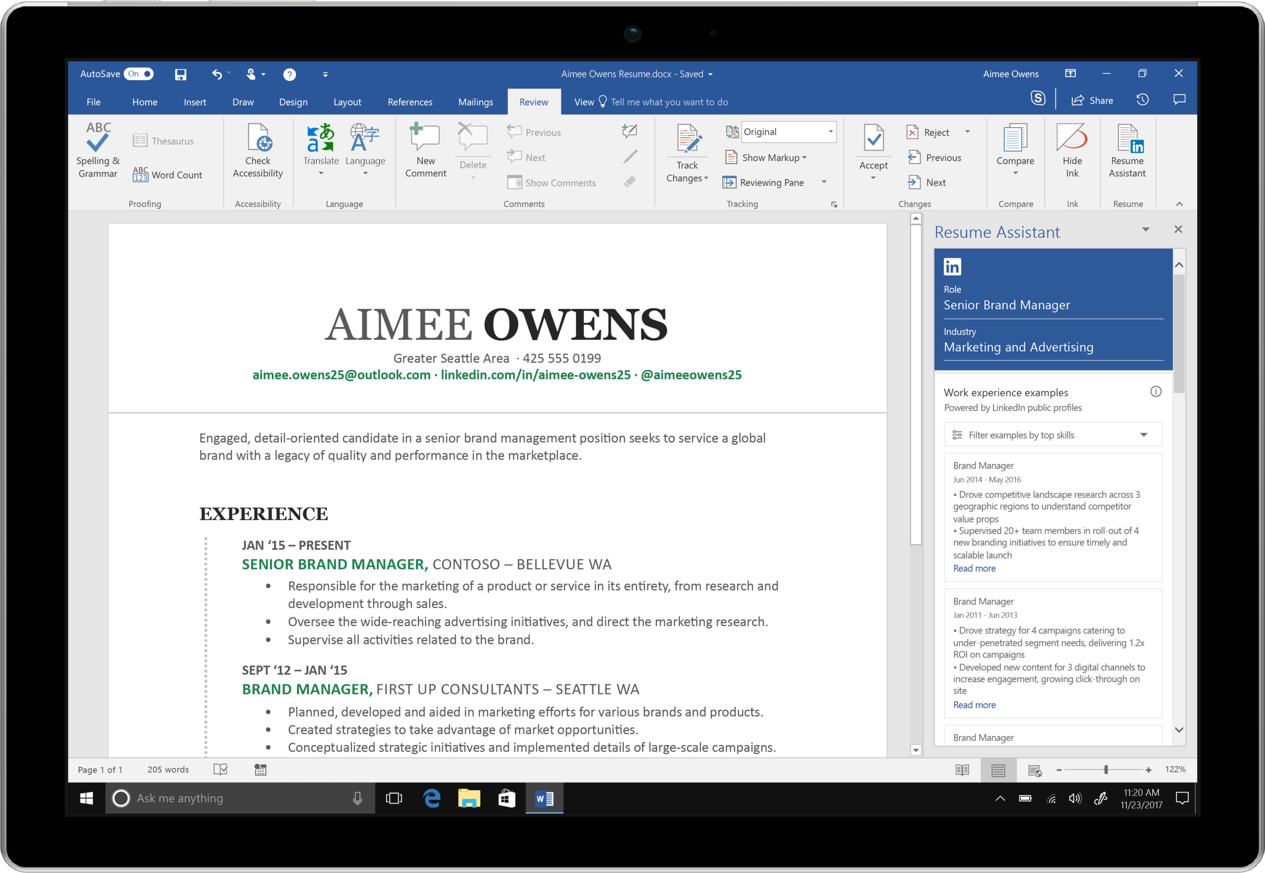 Are you having difficulties writing your resume? Microsoft just launched Resume Assistant, a new tool that integrates LinkedIn data with its Office 360 Word application. -