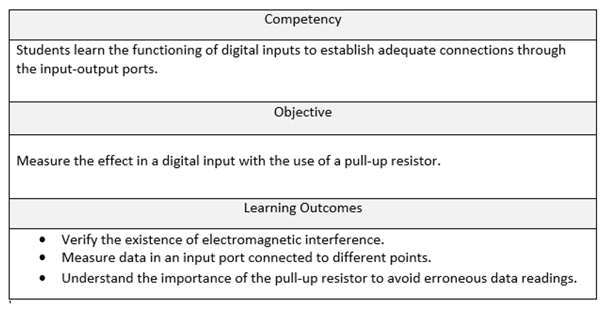 Table 1:  Example of a competency statement  /  Source:  Edu Trends, Feb 2015, pg. 15