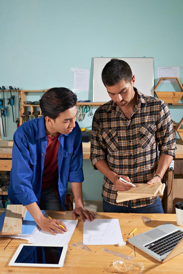 Student developing workforce skills