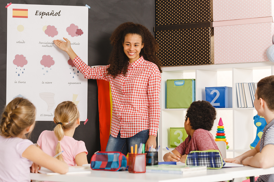 In Europe 92 percent of children study more than one language, while in some US states only 9 percent get foreign language courses. - Image: Bigstock