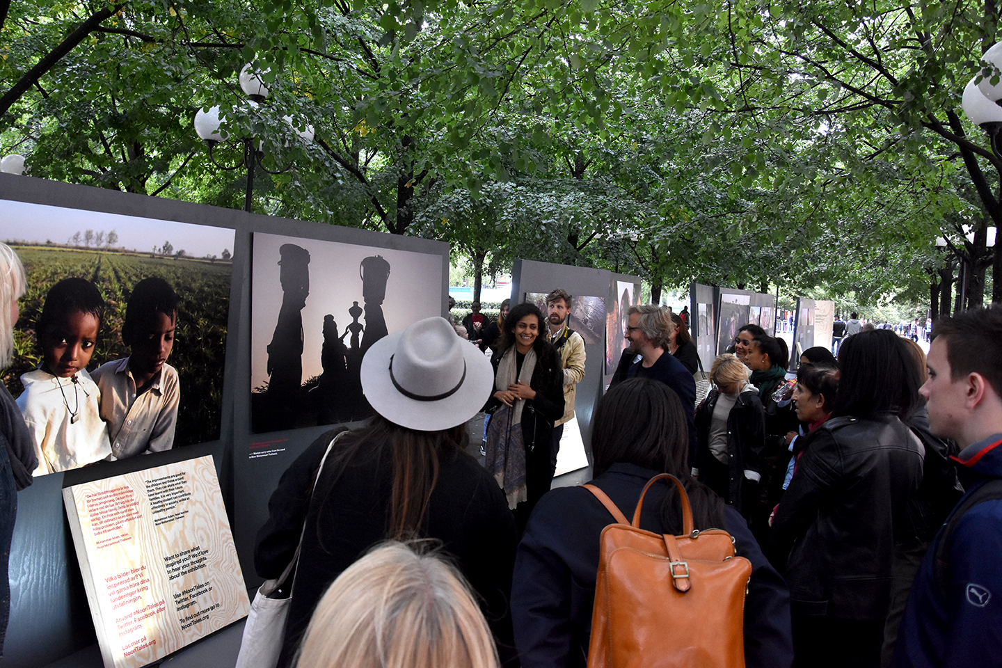 From the private view in the park. More photos below.