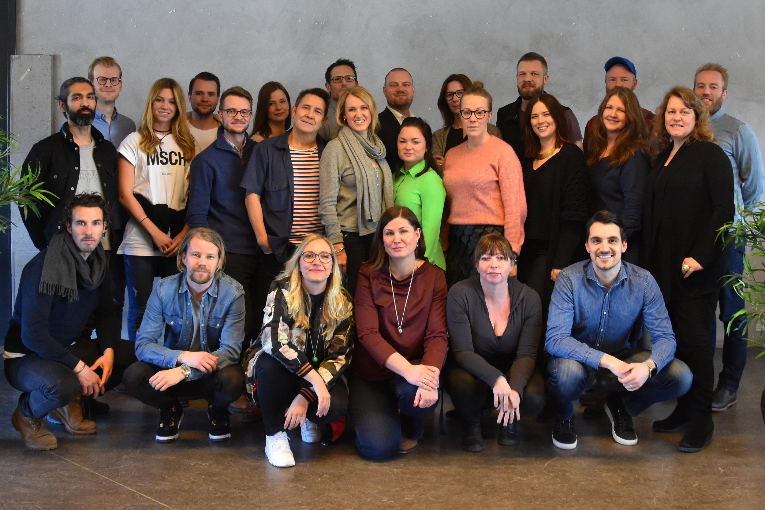MA part-time Stockholm students + programme manager Jenny (me!)