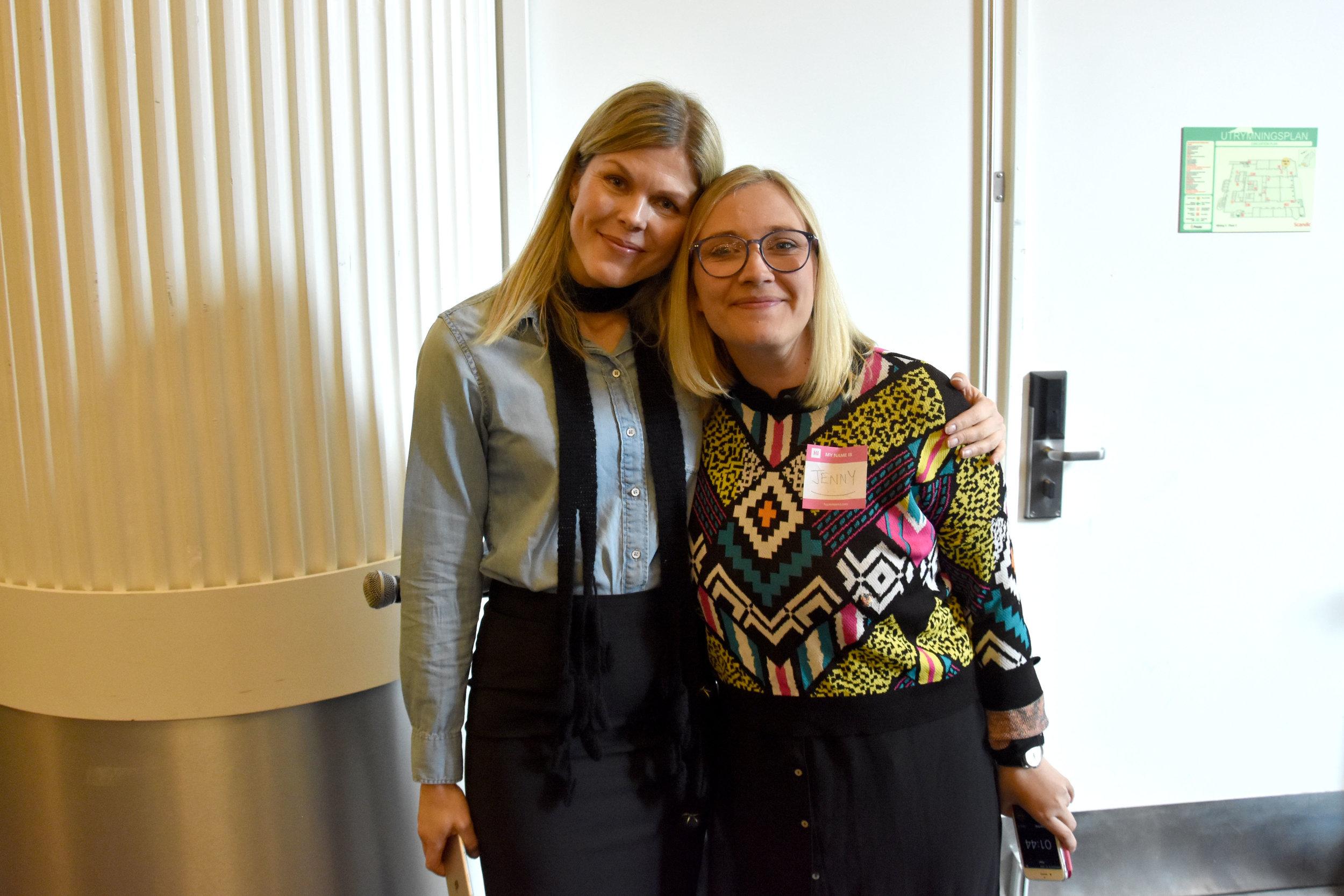 Me and Jenny Westerberg, Marketing Manager Nordics, Episerver