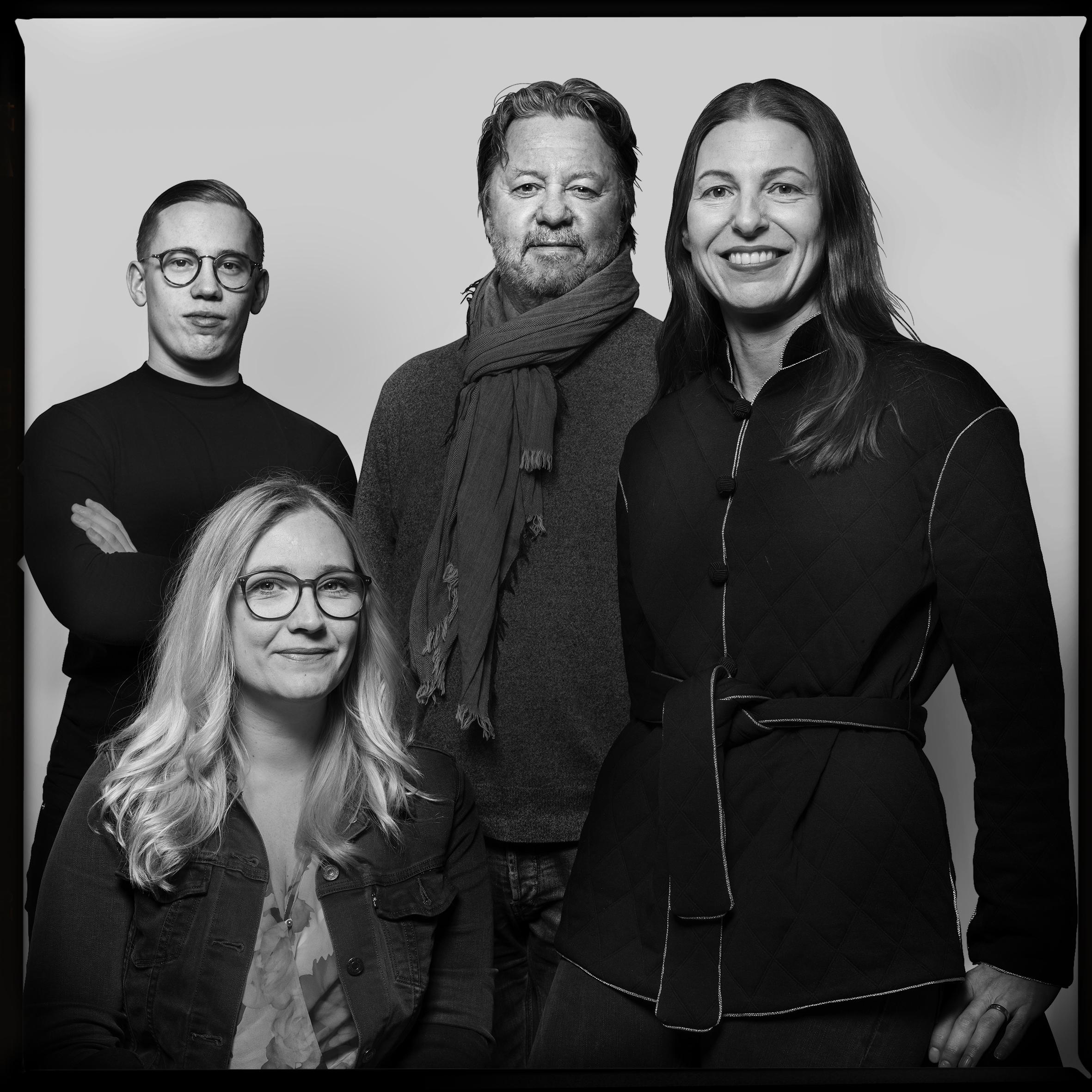 Juryn från vänster: Oskar Pernefeldt, Jenny Theolin, Björn Ståhl och Silla Levin