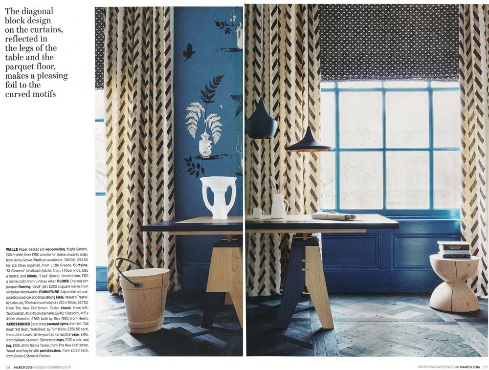 curtains st clement in ash & pitch , roman blinds casa , black