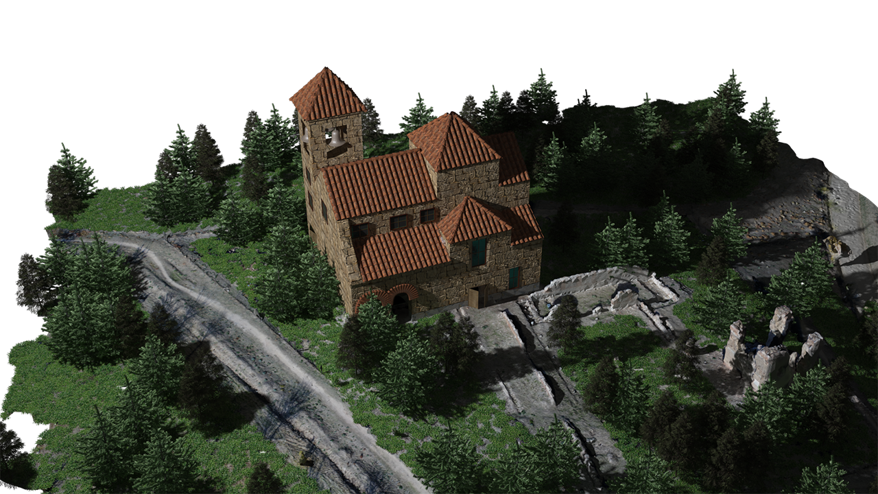 Remodelación 3D Iglesia San Pedro con 3DS Max