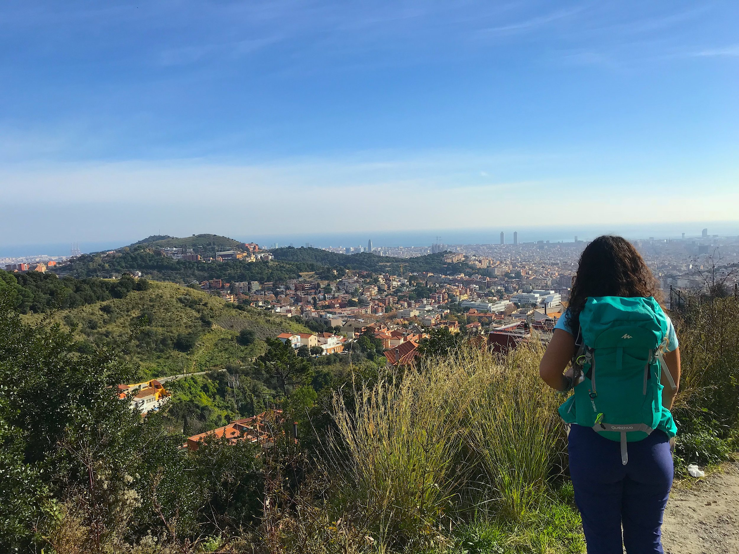 On route to the top of Tibidabo