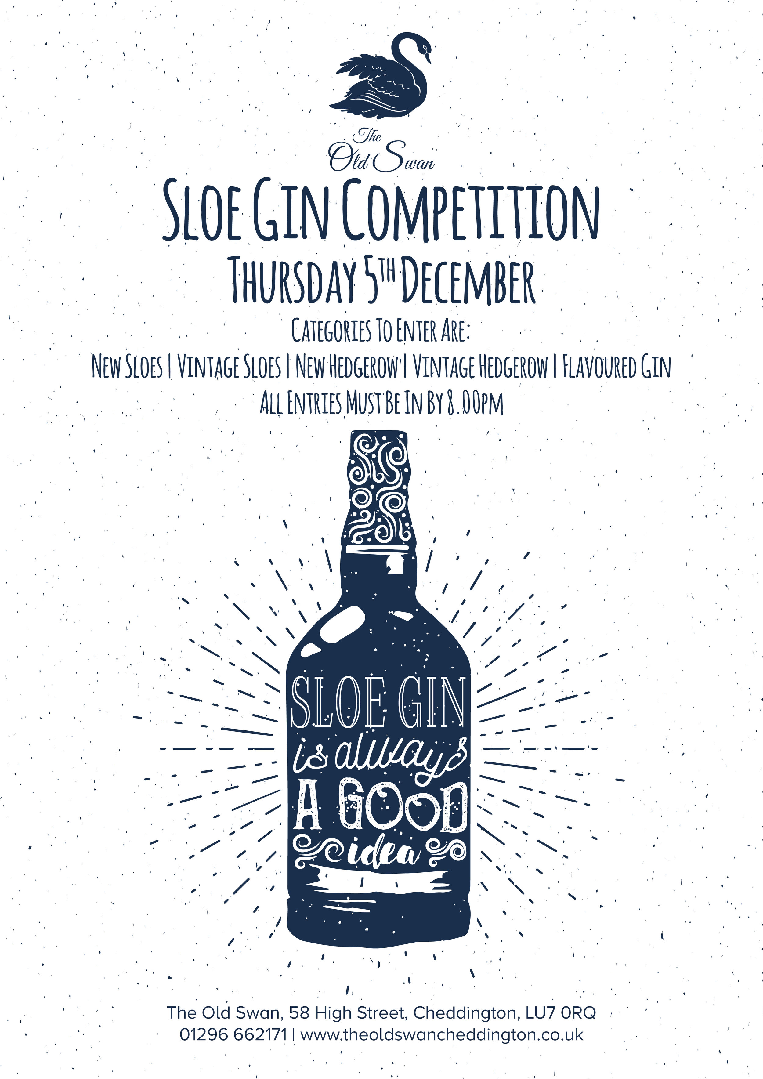 The Old Swan Cheddington Sloe Gin Competition