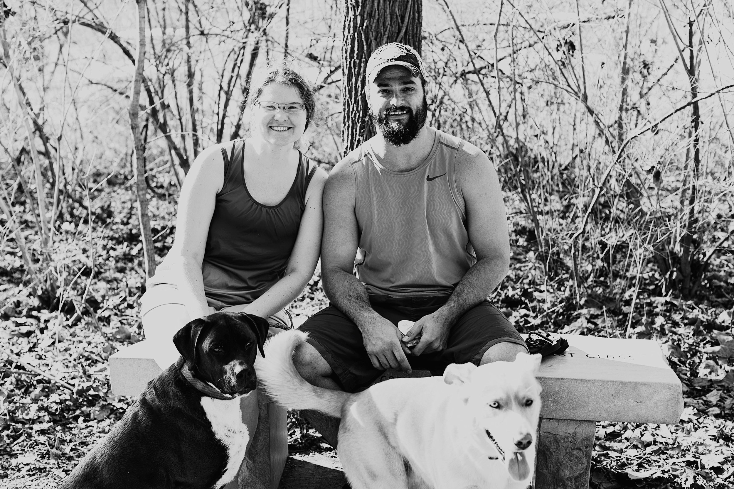 Two sweet people with their lovely dogs. Forgive me, sweet people....I forgot to ask for your names! Regardless, keep smiling and loving people!
