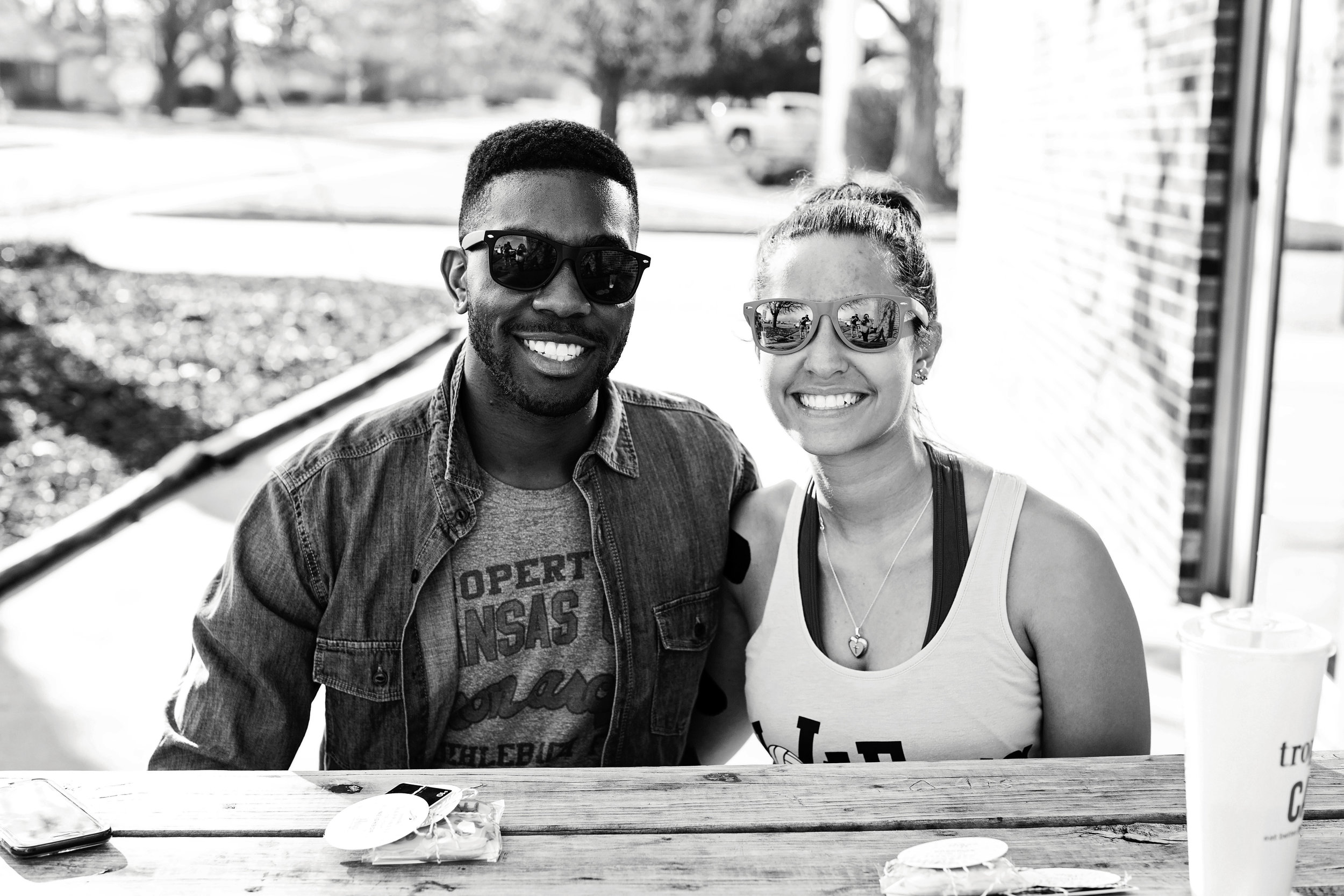 Nate S. and Bri H. - Two friends who enjoy working out. Nate graduated from MSU and is now pursuing acting in Los Angeles. Bri spends her free time volunteering with special olympics.
