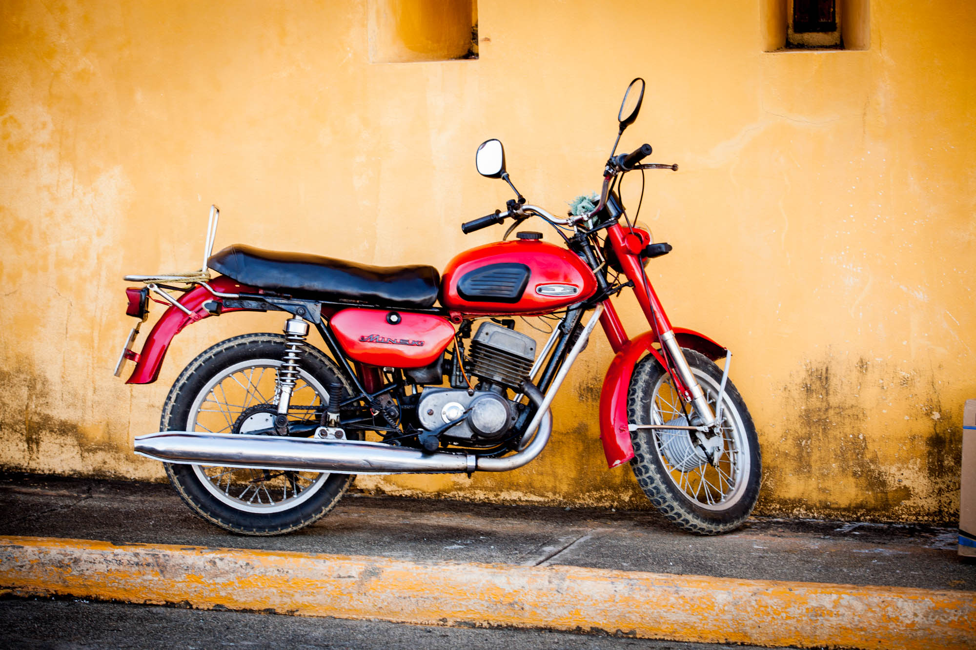 MOTO  Motor bikes throughout Cuba are almost as classic as the cars.