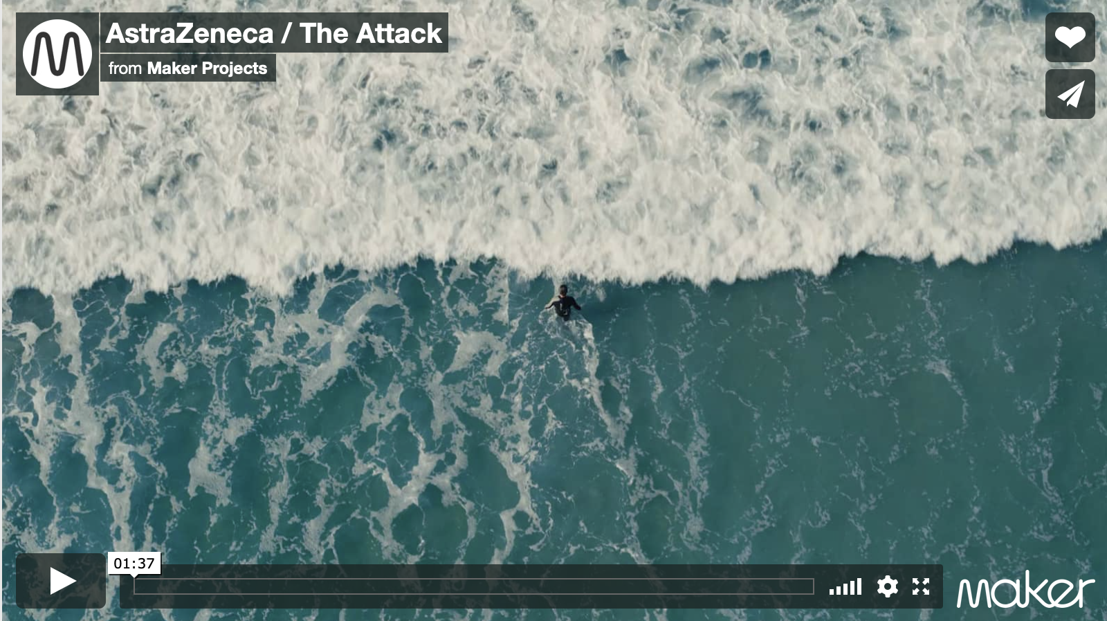Screenshot from AstraZeneca, 'The Attack'