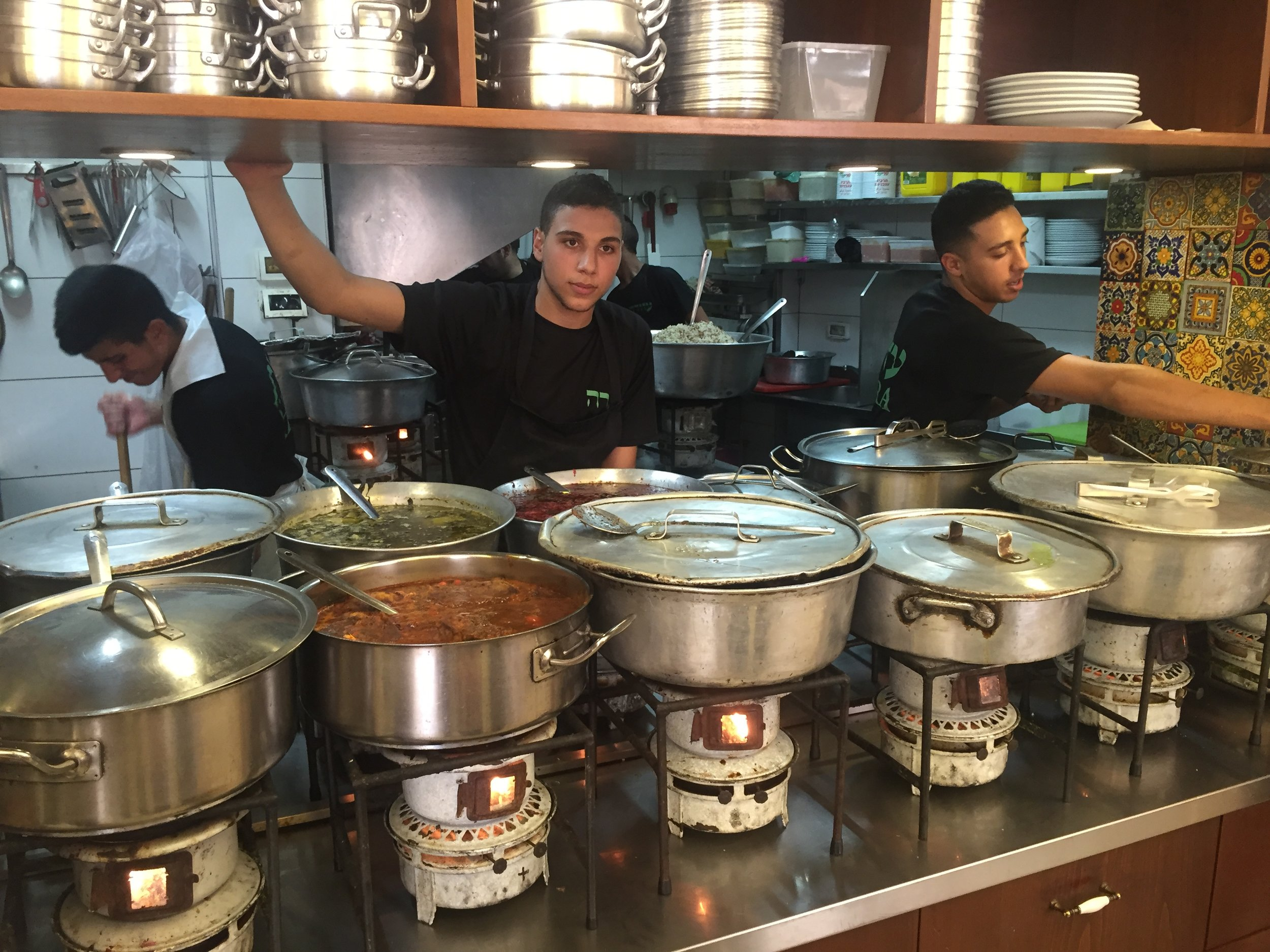 Cooks at Azura in the Shuk