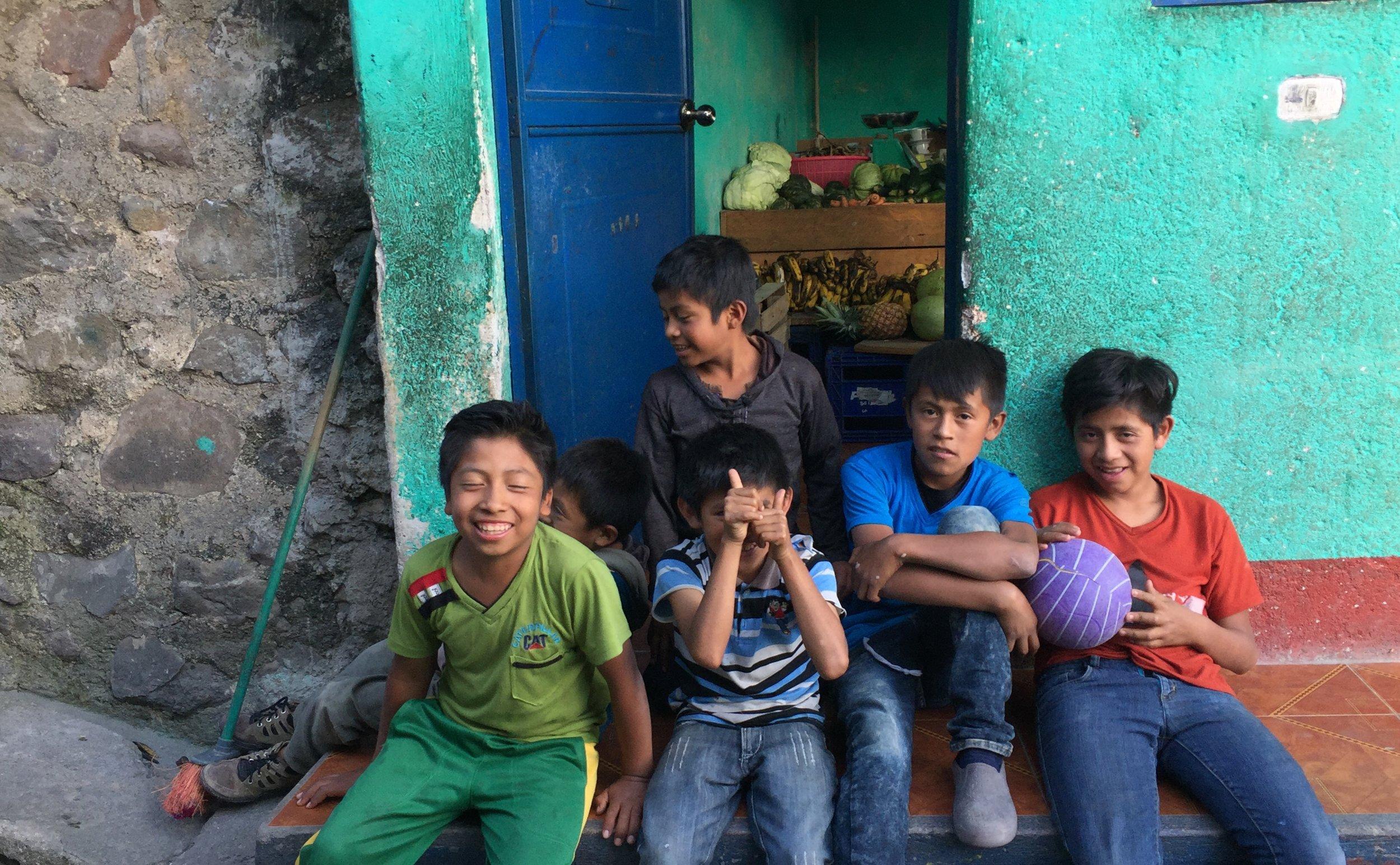 Neighborhood kids Santa Cruz, Lake Atitlan
