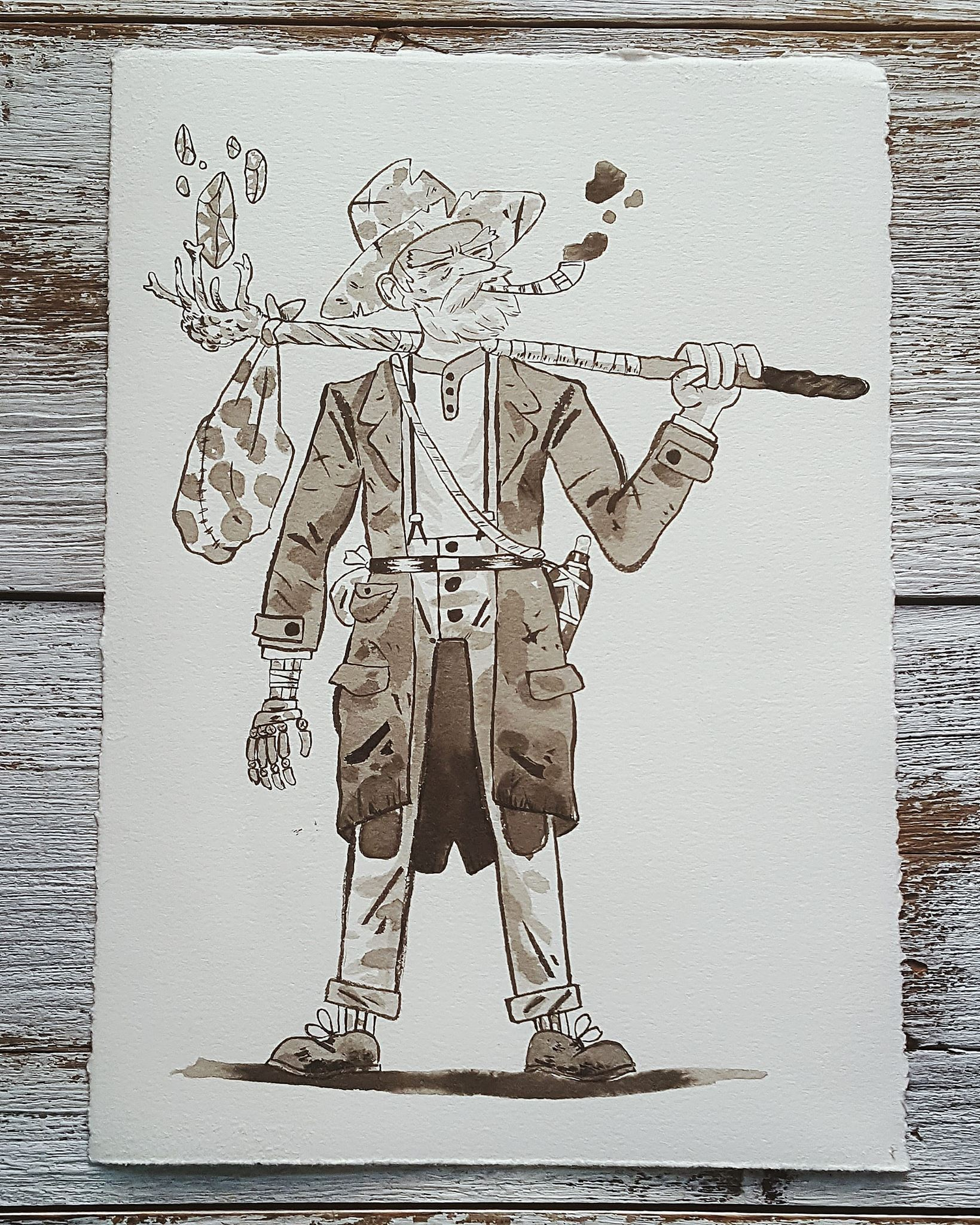 A Knight a Day No. 7, Elias The Vagabond Wizard - A decorated combat veteran who lives out his days traveling and embarking on dead-end adventures with any young and eager swordsman who will have him for a few coins.A Knight a Day No. 8, Spirit Warrior - A ghostly soldier summoned to do the bidding of a necromancer.