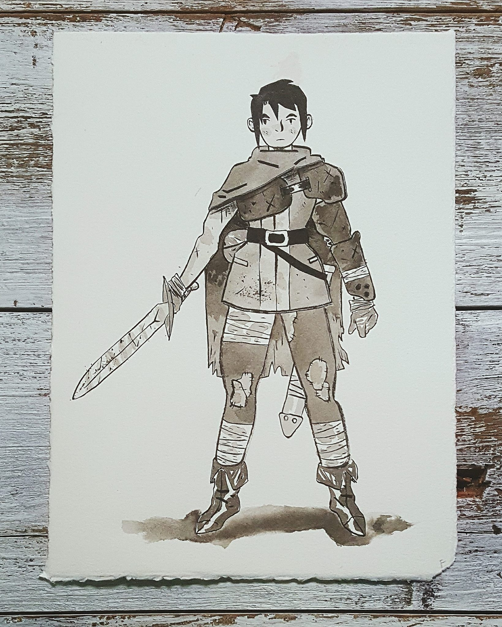 A Knight a Day No. 15, Young Adventurer - A few years into her quest for adventure, Mar has become a formidable fighter, a far cry from the fish seller she used to be. After surving a few battles and bearing a few scars, the reality of the life of an adventurer is becoming clearer and clearer to her.