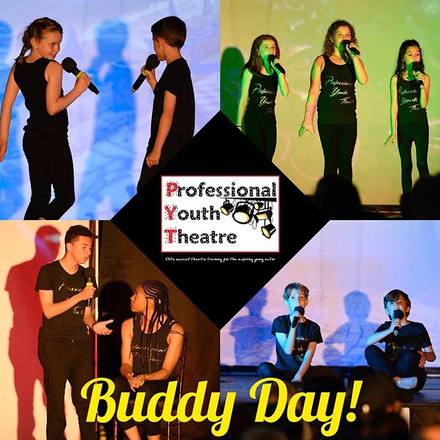Don't miss BUDDY DAY this Sunday, 10/6 at PYT!  All students are welcome to bring friends to join in on the singing, dancing, and acting fun.  We can't wait to meet some new buddies!  #PYTtheplacetobe