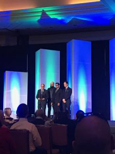 The UBC team receiving their award in Las Vegas in January 2017.
