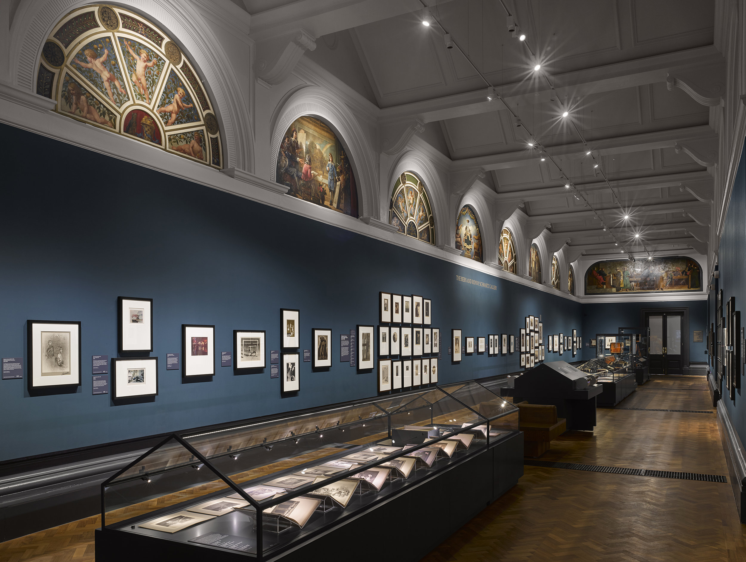 The Bern and Ronny Schwartz Gallery in the new Photography Centre of the Victoria and Albert Museum, London. The Foundation was the first major supporter of the project. Photo © Will Pryce
