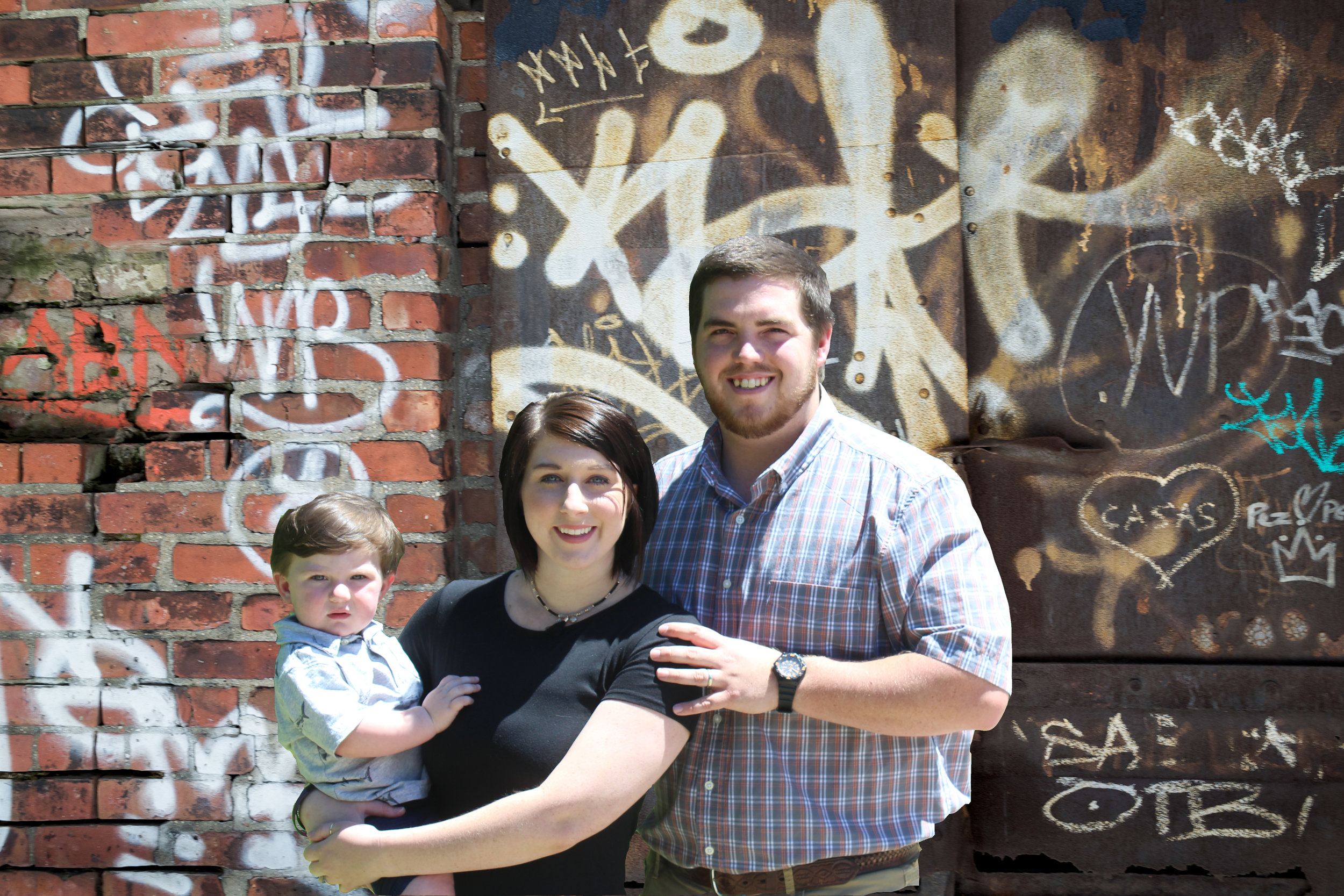 Graffiti Missionary Ben east & family