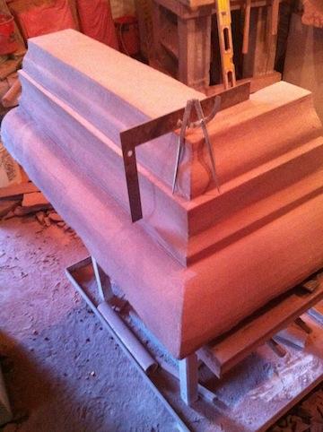 Carved Sandstone Cornice