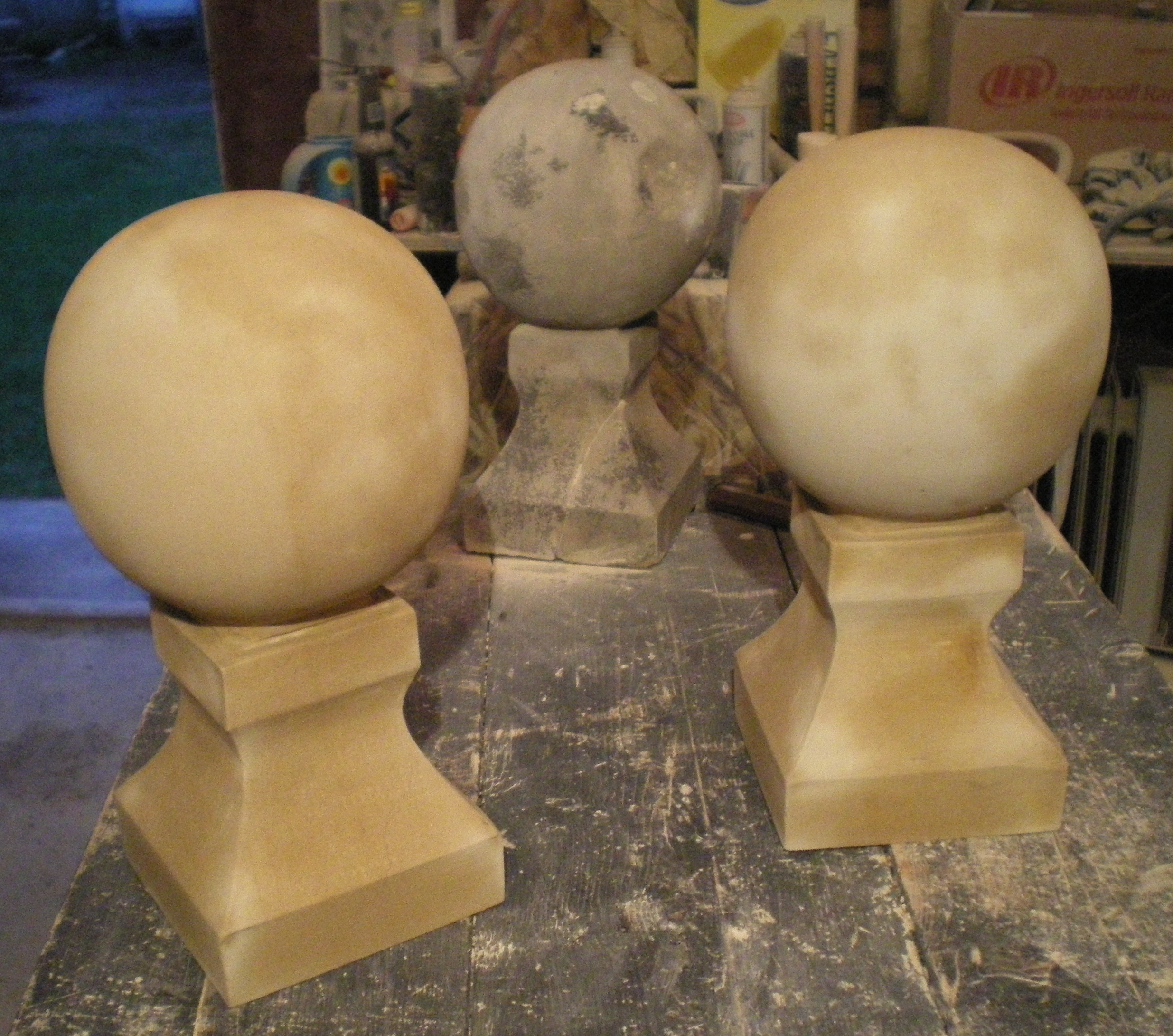 Ball Finials — Carved to Match Existing