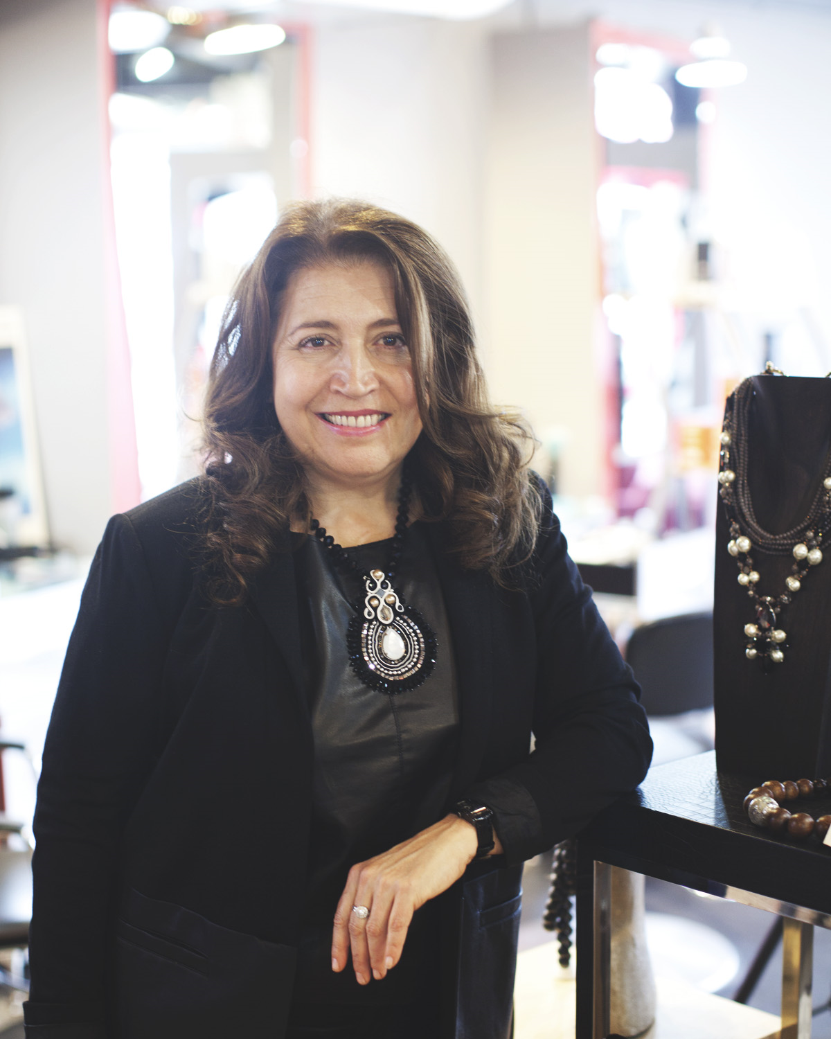 Fran Russo  Owner & Buyer  Fran has always had a passion for fashion and was thrilled to add some flair to the salon creating a mini boutique within RUSSO. She works hard behind the scenes and is still, after 8 years of buying, excited when clients leave with not only a beautiful new hairstyle but also a great new accessory.