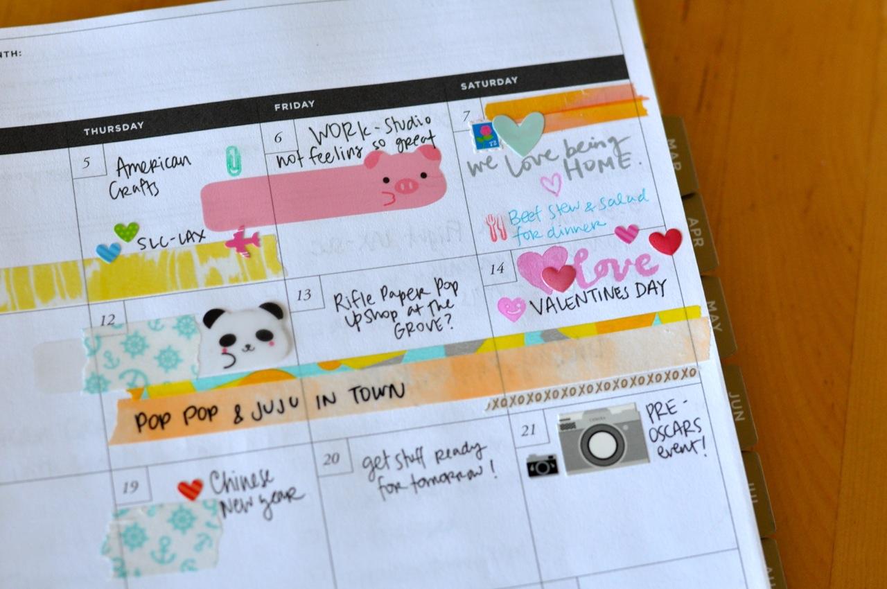 Amy Tangerine's planner