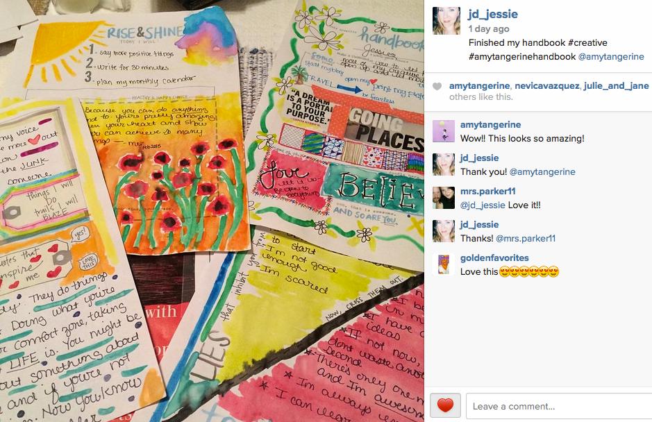 @jd_jessie completed the Amy Tangerine Handbook