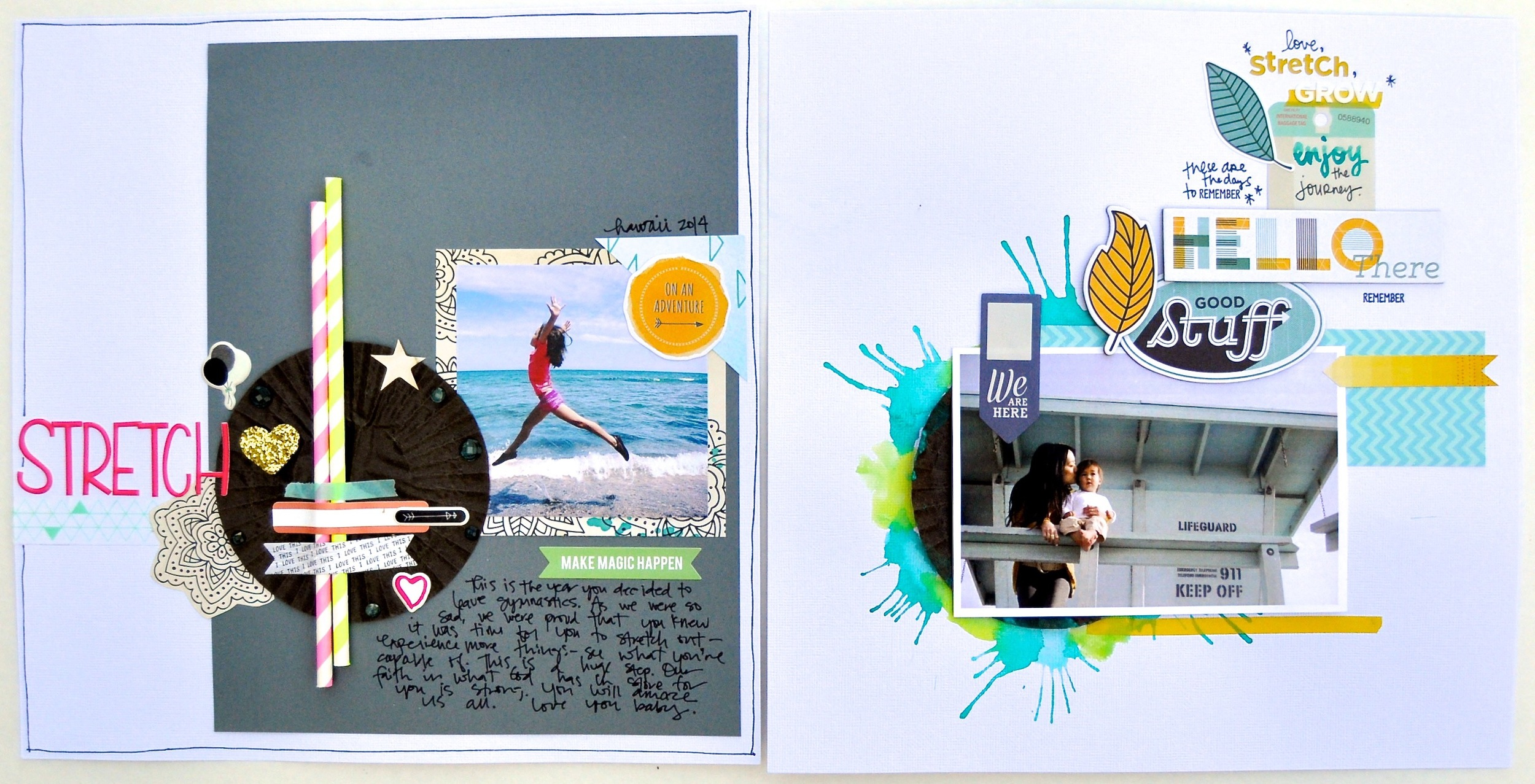 Design on Time layouts by Jamie Waters and Amy Tangerine