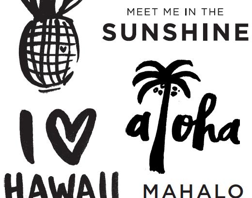 Amy Tangerine Hawaii stamps sneak