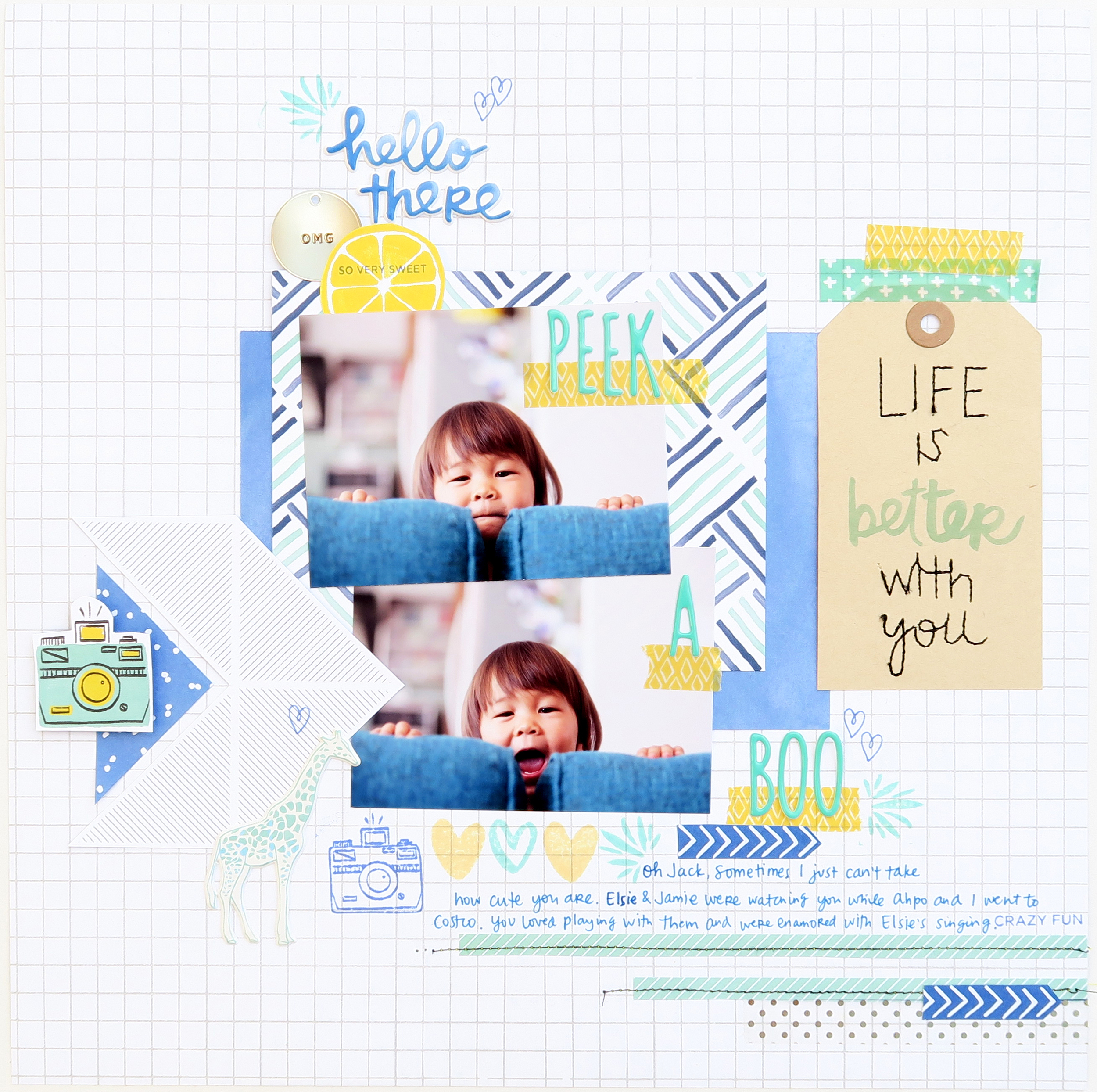Finders Keepers scrapbook page
