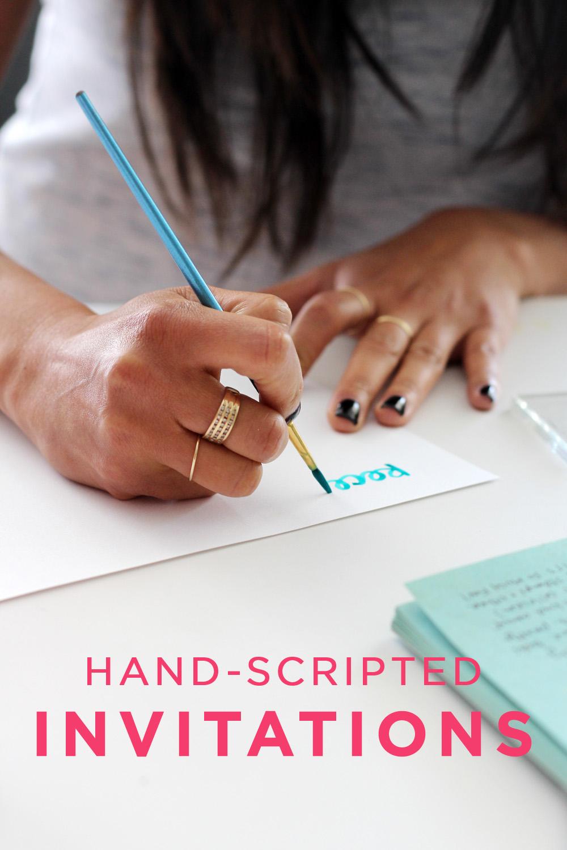 Hand-Scripted Wedding Invitations | Amy Tangerine