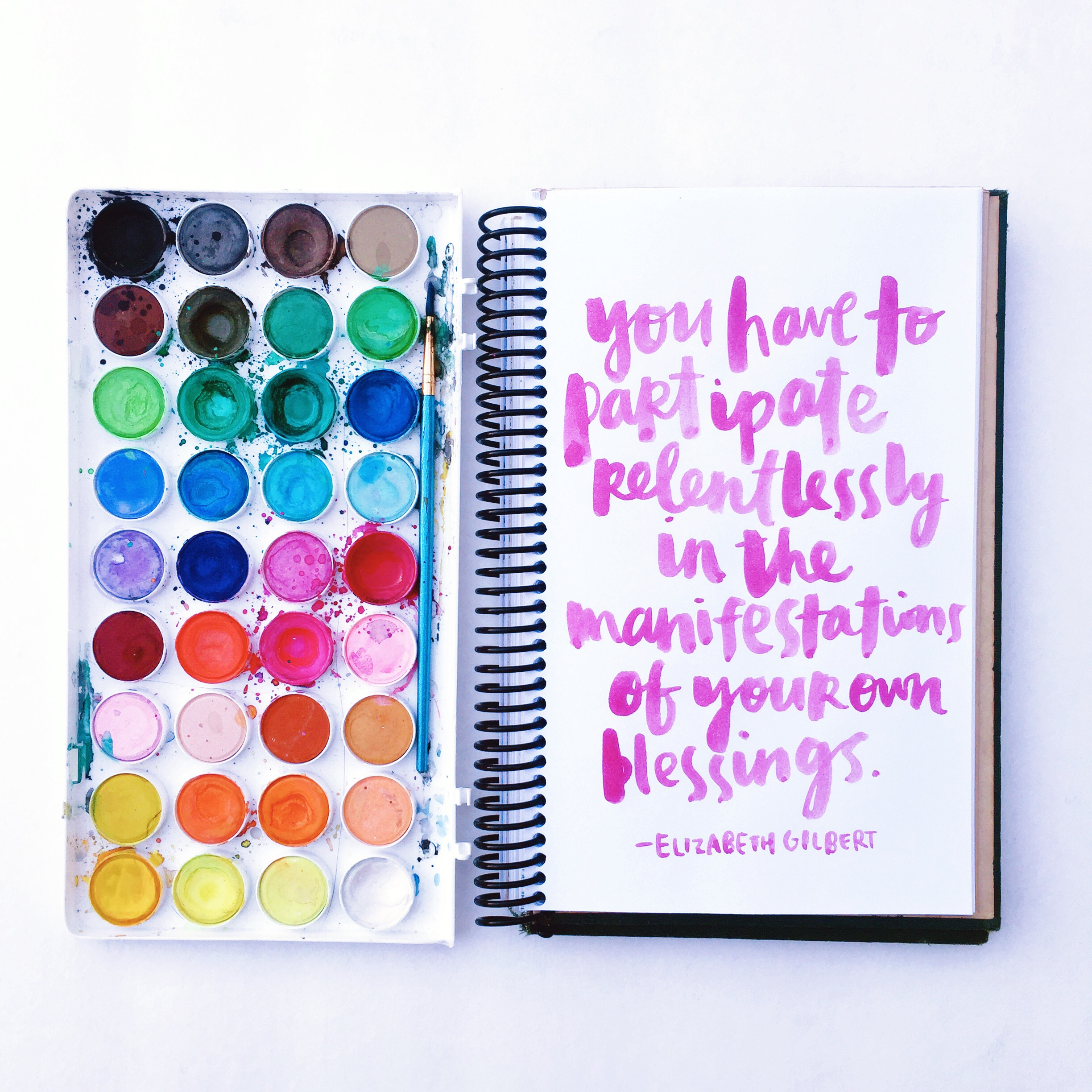 Elizabeth Gilbert quote by Amy Tangerine
