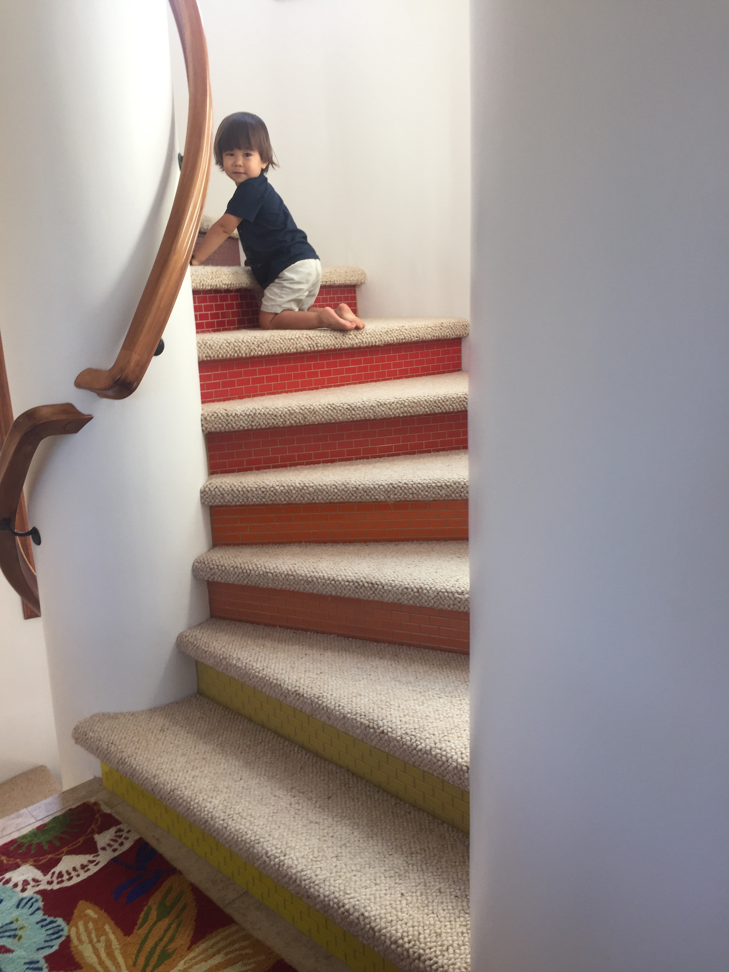 Jack on the stairs