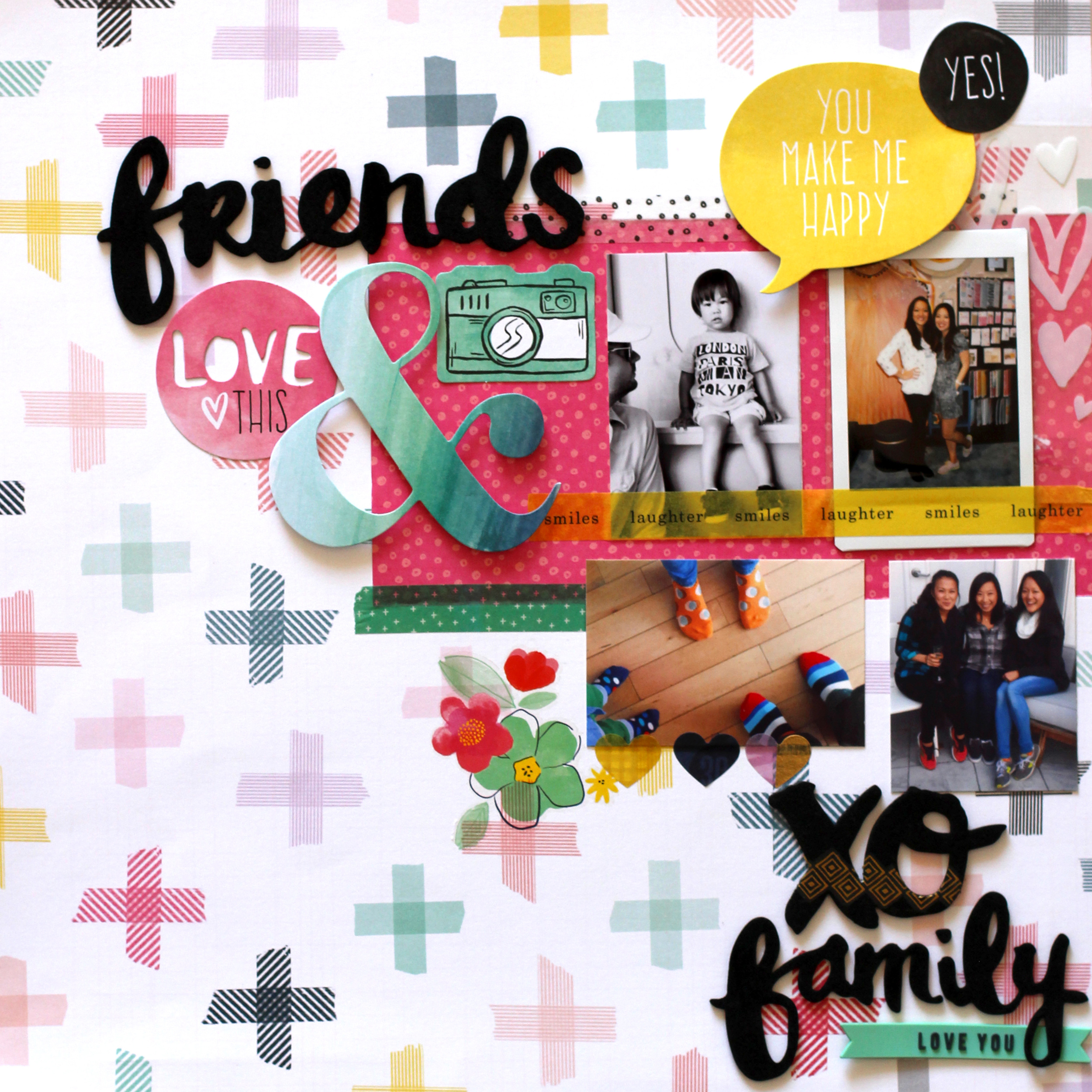 amy tangerine scrapbook page