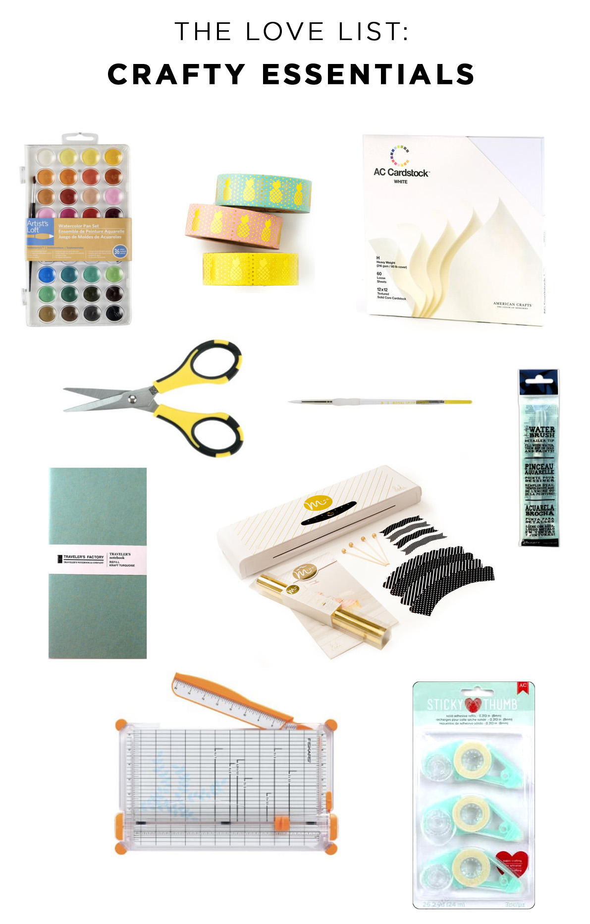 The Love List: Crafty Essentials | Amy Tangerine