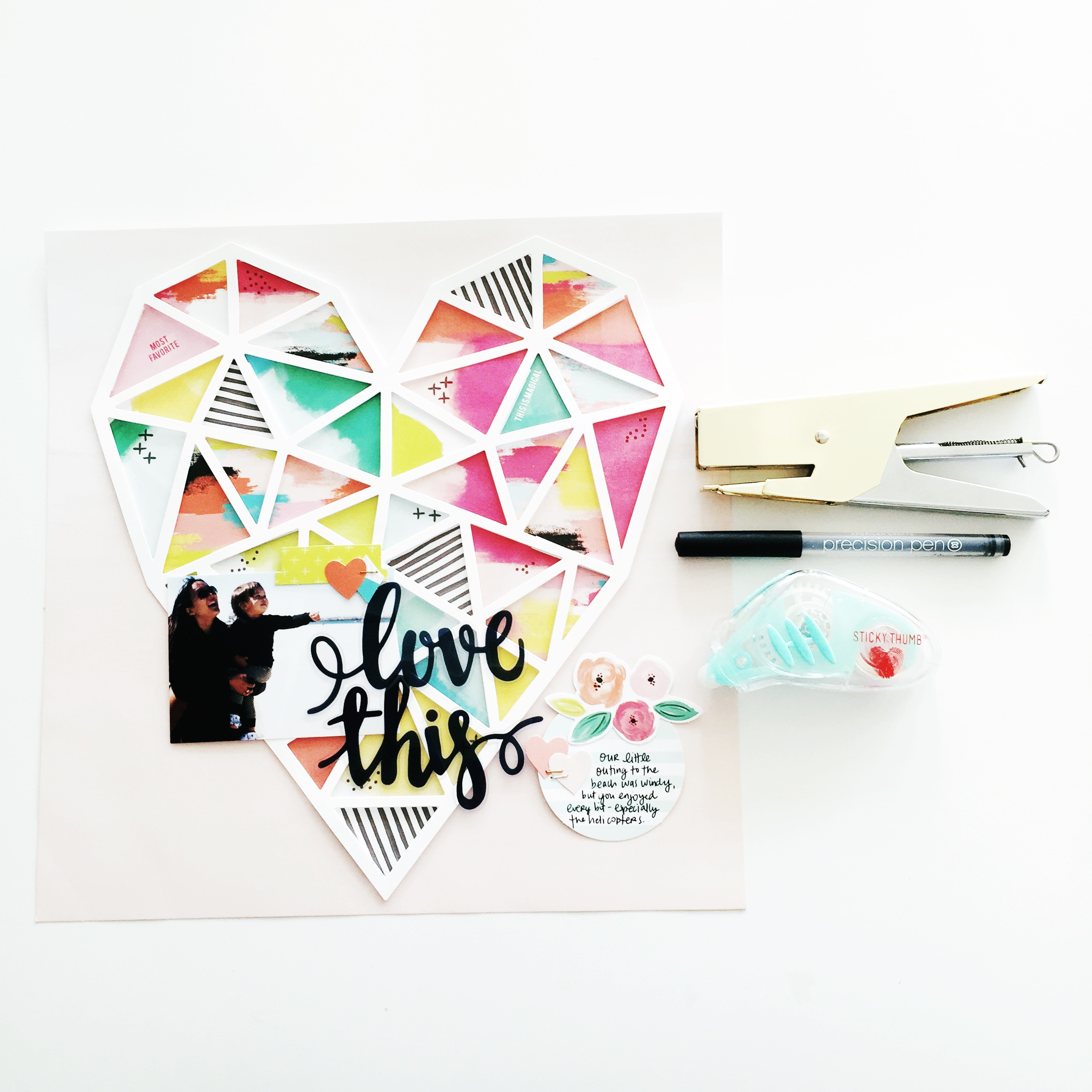 Paige Evans Heart Fancy Free page kit