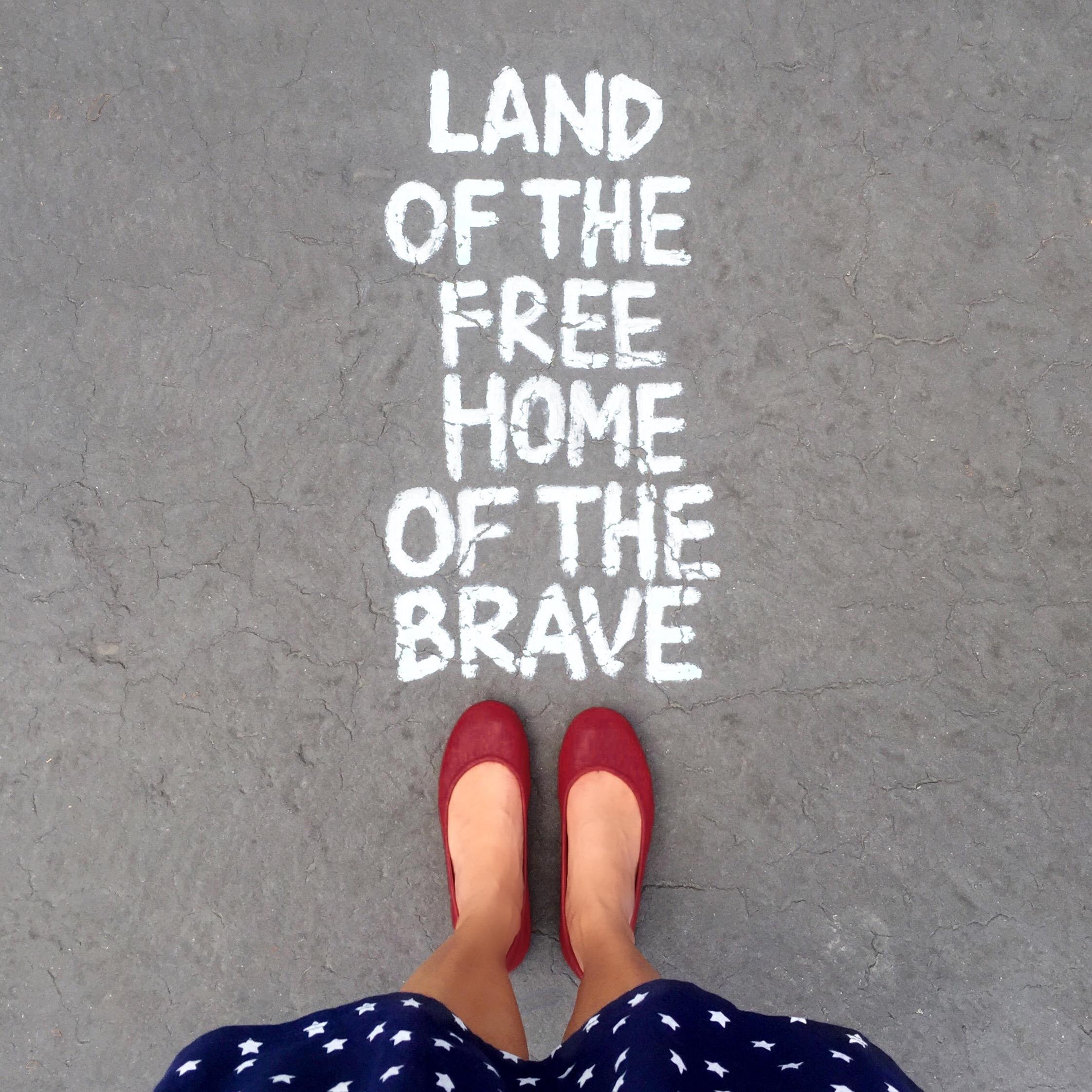 Amy Tangerine Painted Quote + Tieks