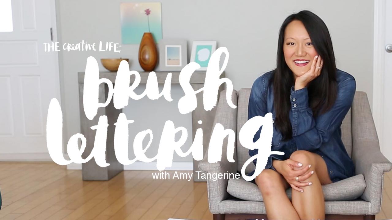 Amy Tangerine brush lettering class