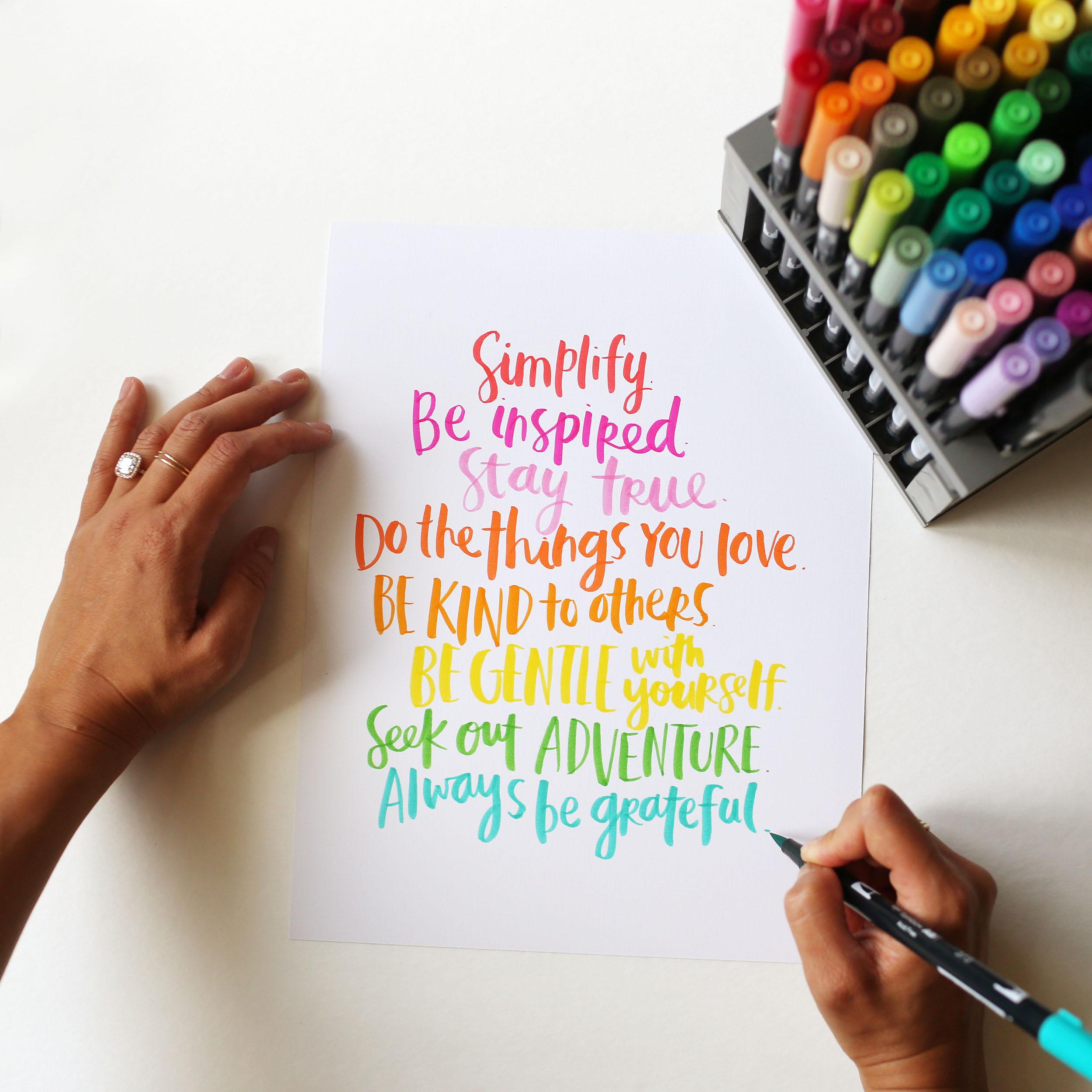 Amy Tangerine's free printable manifesto