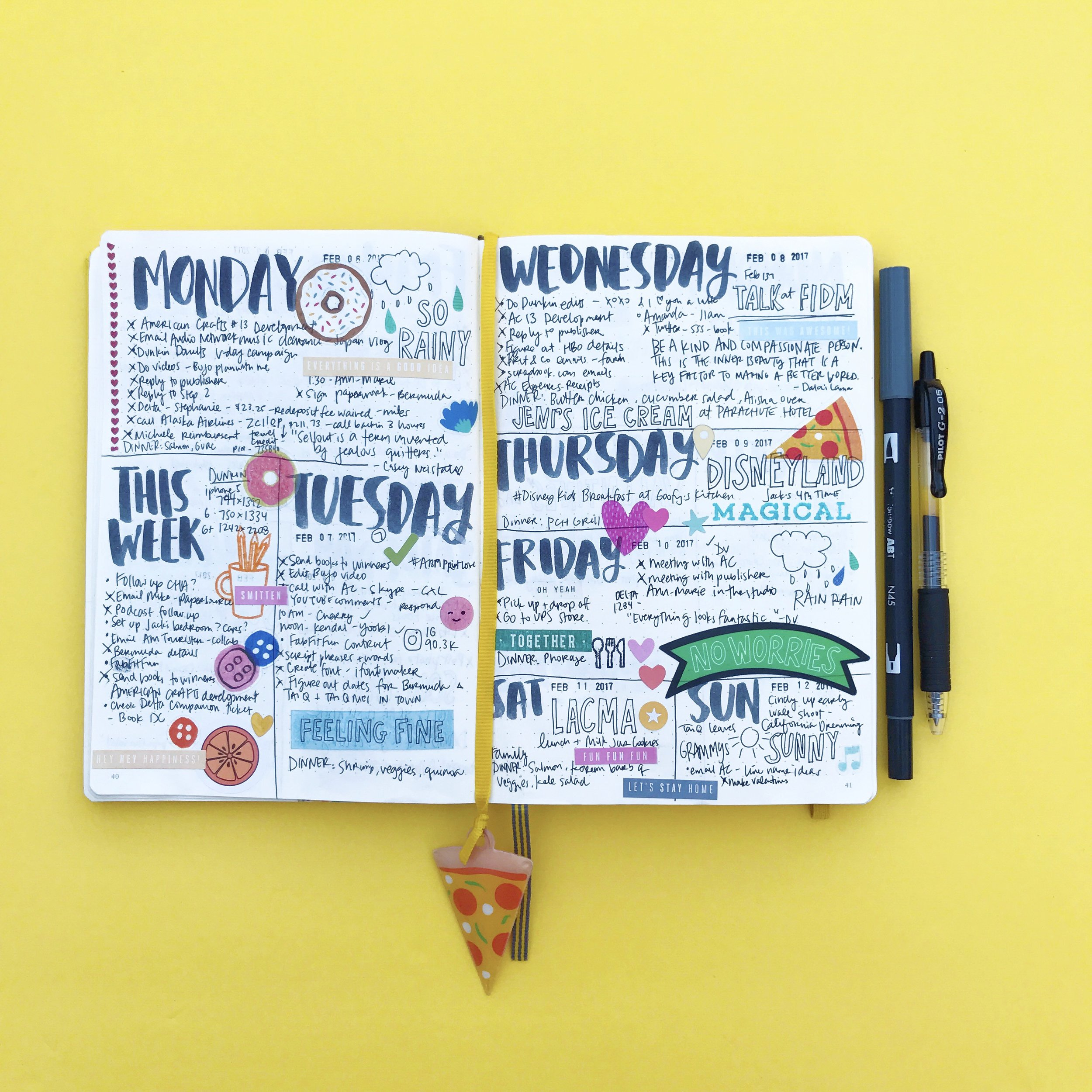Colorful bullet journal!