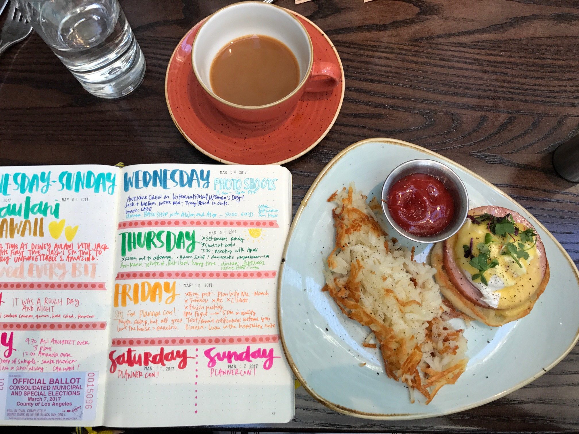 Bullet Journal and breakfast