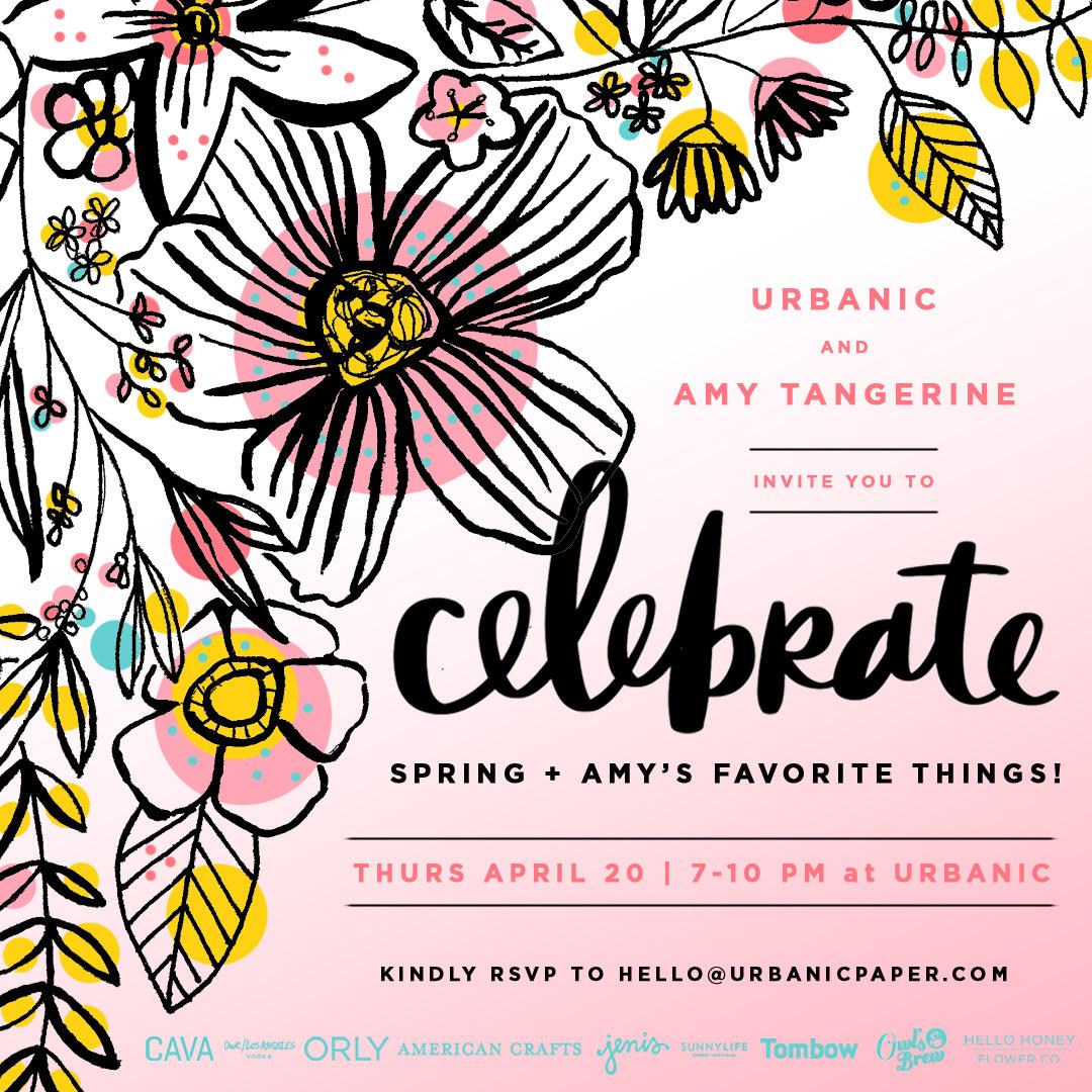 Amy Tangerine invite